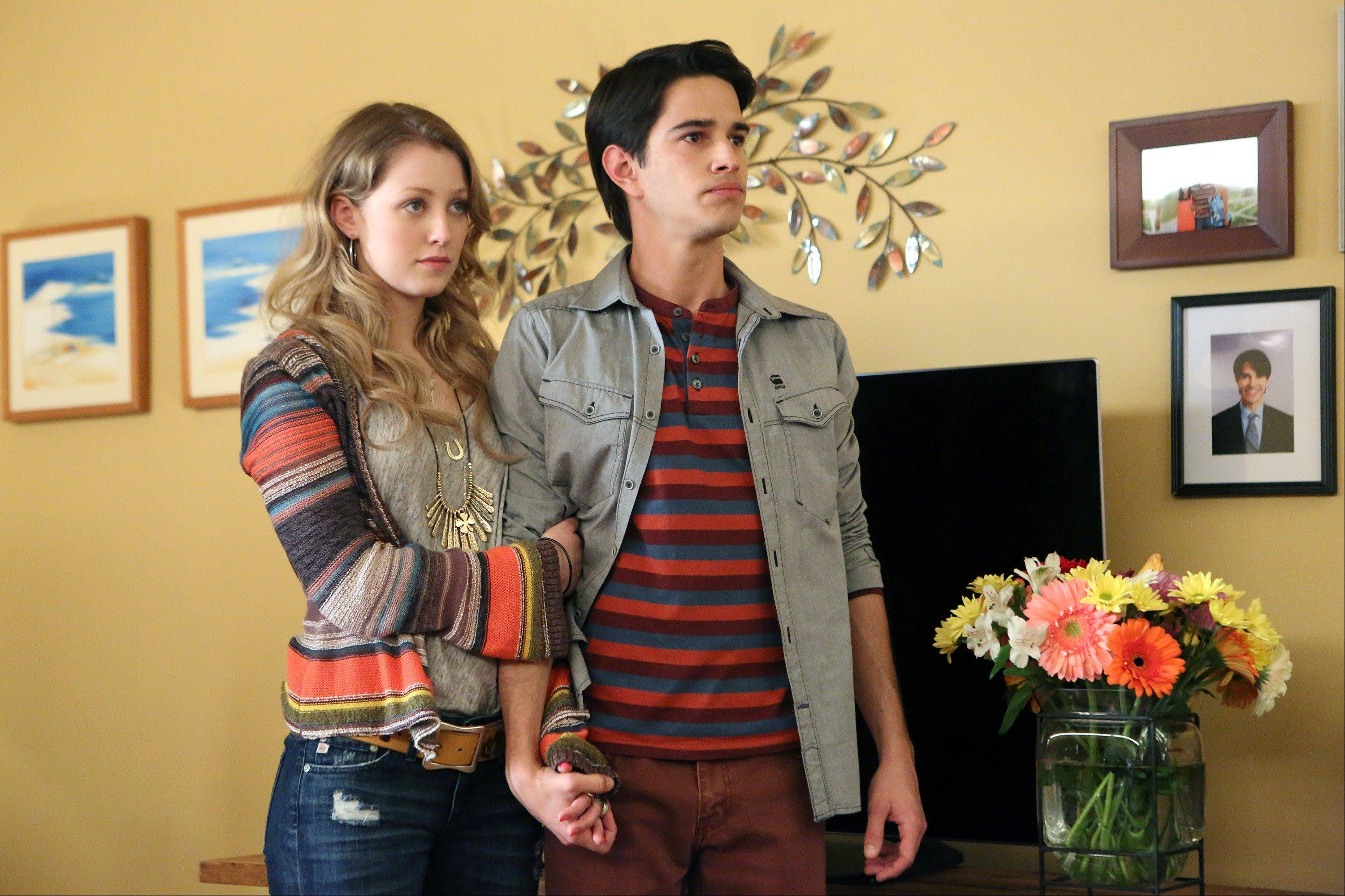Ella Rae Peck, left, plays Molly Yoder and Joey Haro is Junior Hernandez in �Welcome to the Family,� premiering Oct. 3 on NBC.