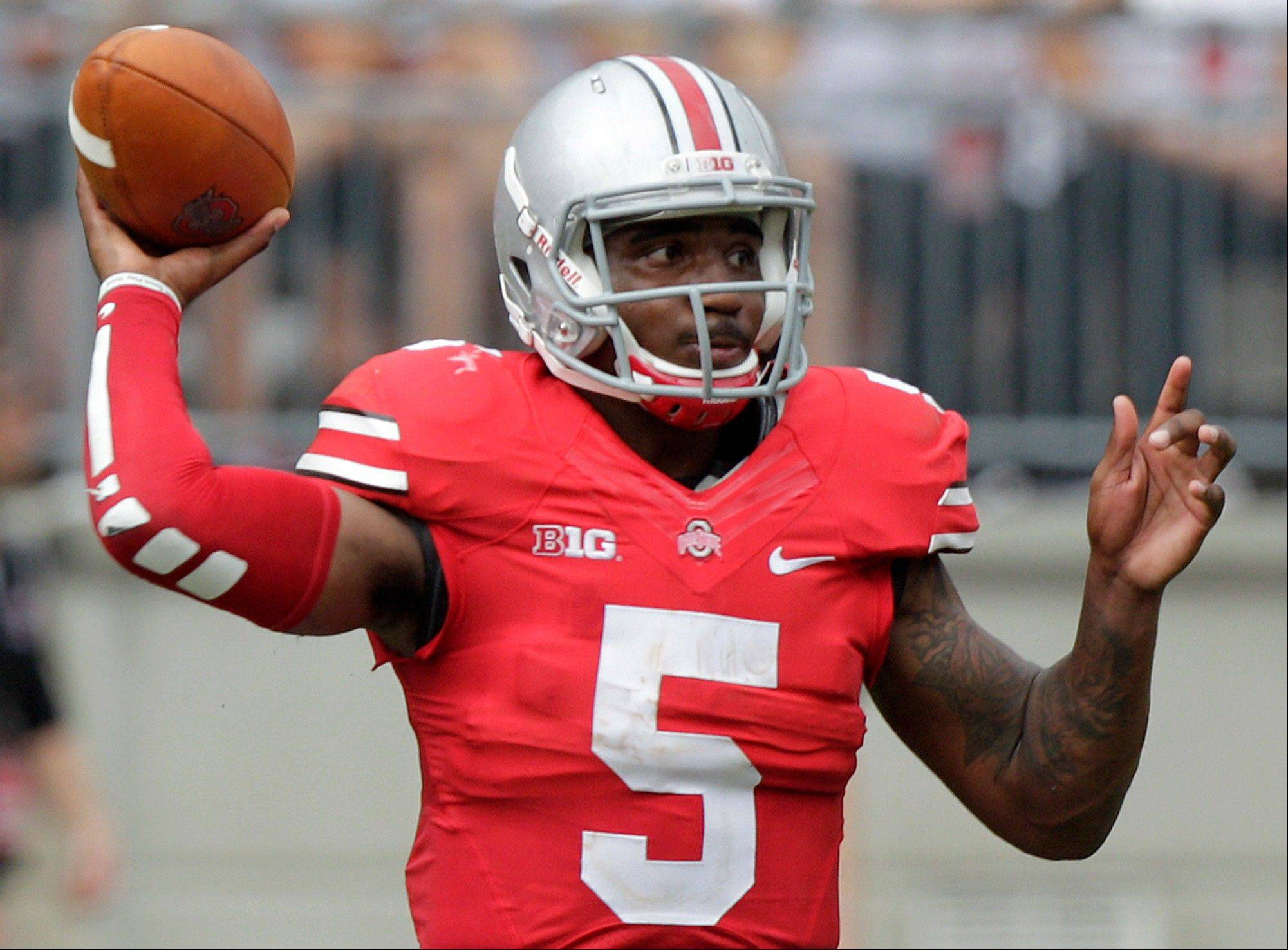 Ohio State quarterback Braxton Miller throws a pass against Buffalo. Miller is expected to start for the Buckeyes at No. 16 Northwestern this Saturday.