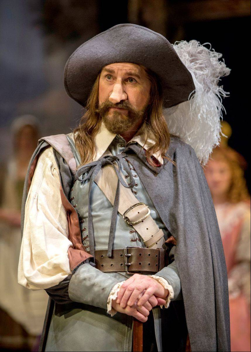 "Jeff Award winner Harry Groener stars as the titular poet, soldier and would-be lover in Chicago Shakespeare Theater's ""Cyrano de Bergerac,"" directed by Penny Metropulos."