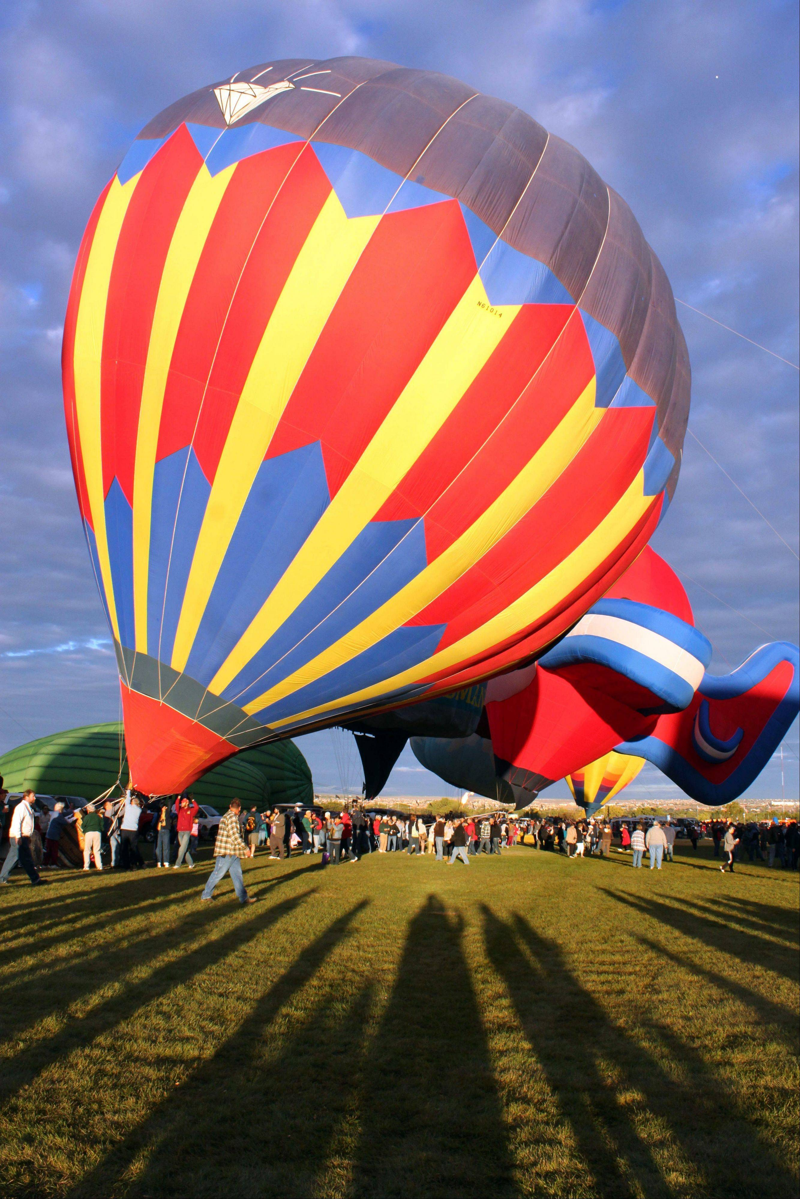 The Albuquerque International Balloon Fiesta in Albuquerque, N.M., can be seen from many vantage points around the city once the balloons lift off. The fest runs Oct. 5-13.