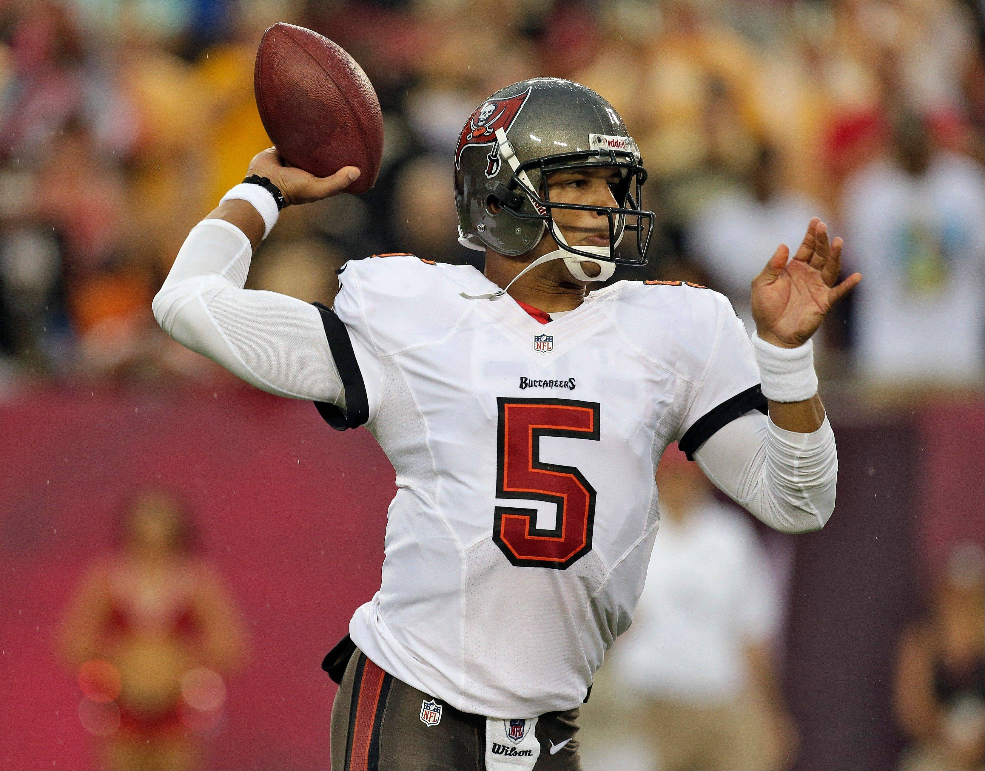 Quarterback Josh Freeman was a 4,000-yard passer a year ago, but now he's out of a job.