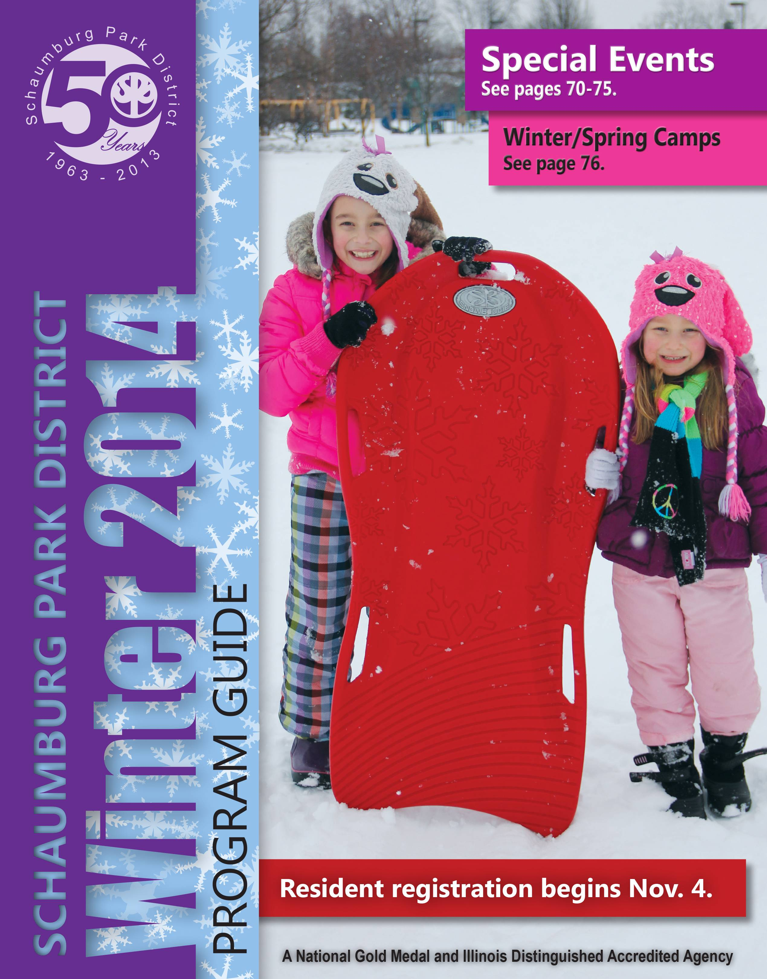 Schaumburg Park District Winter 2014 Program Guide Cover
