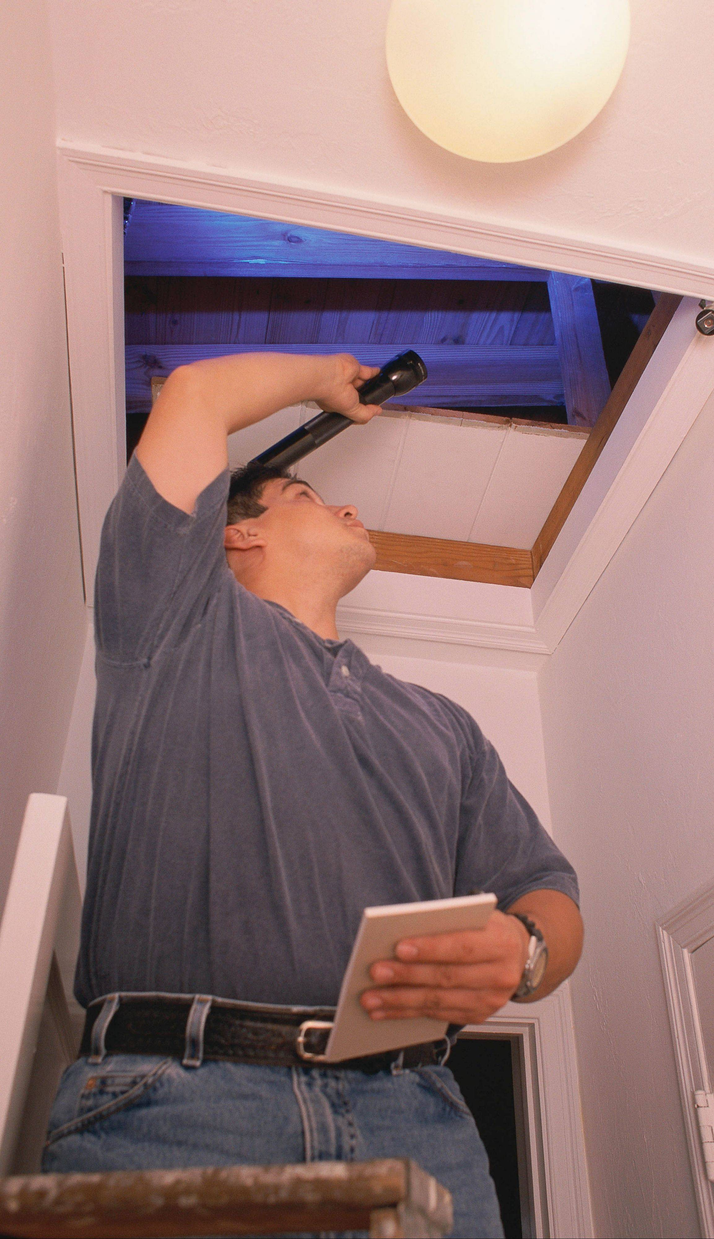 Attics can be a source of drafts in your home.
