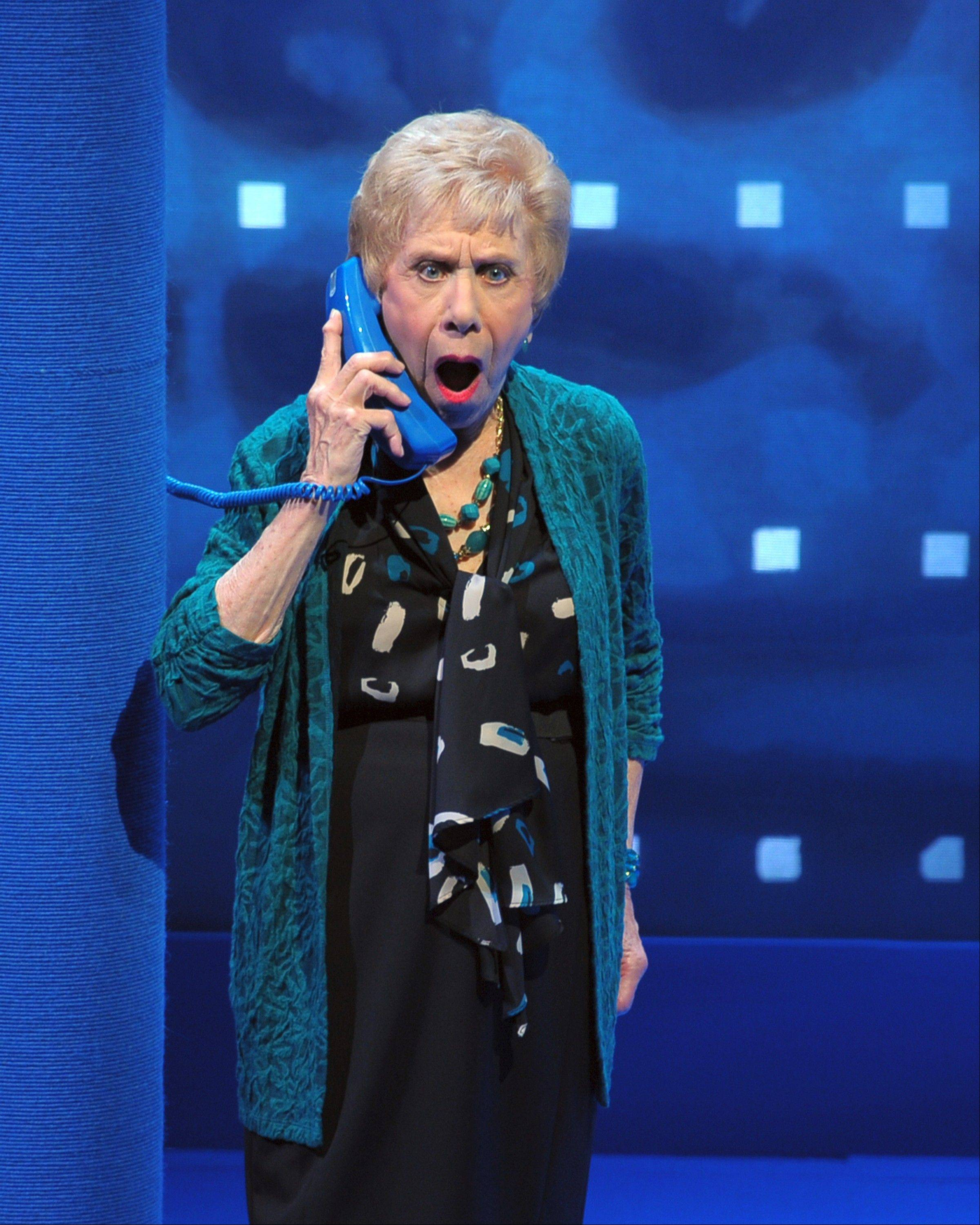 "One of Renee Matthews' comically wrought characters gets some surprising news in ""Old Jews Telling Jokes"" at Chicago's Royal George Theatre."