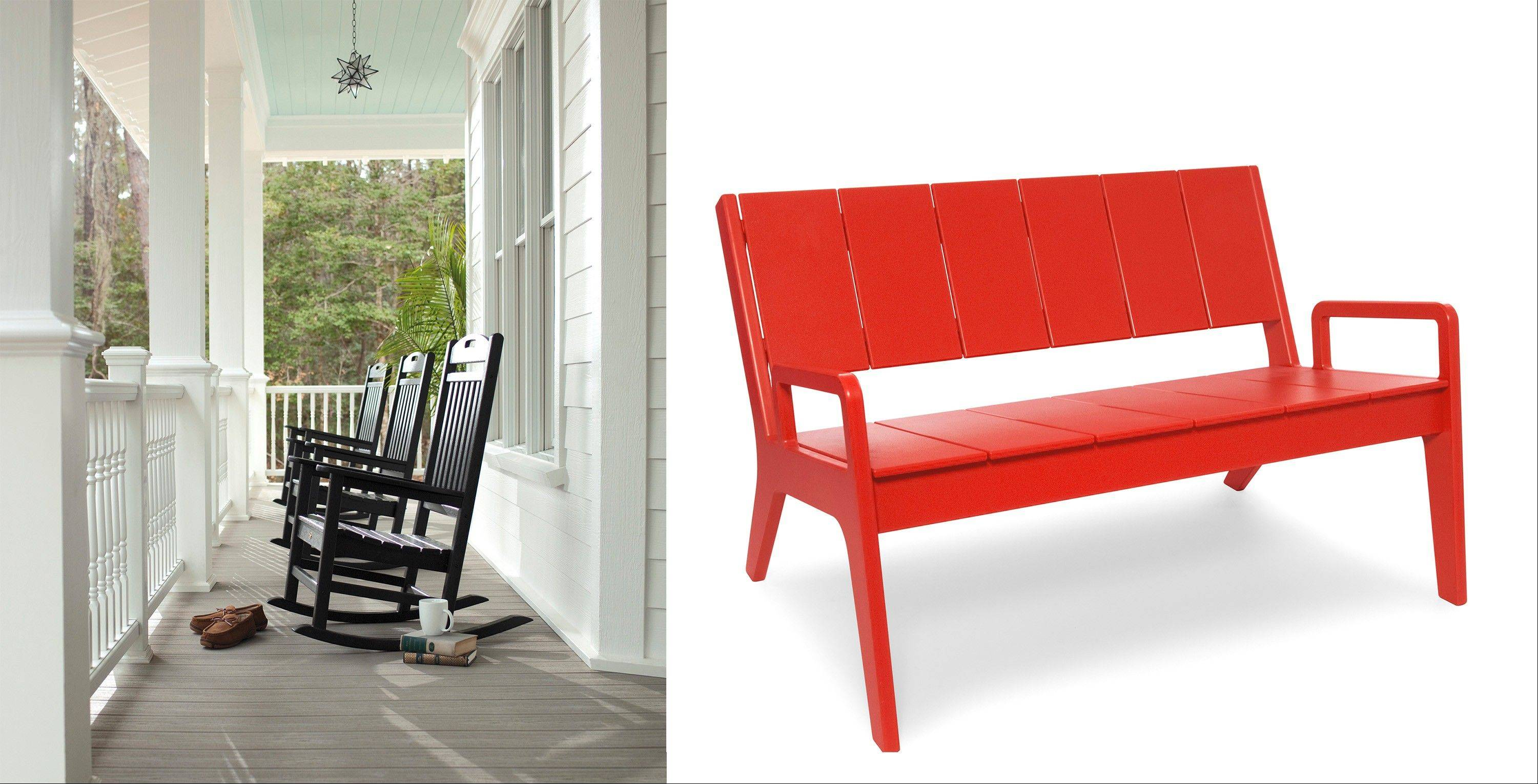Trex Rocking Chairs #21 - Rocking Chairs Like These From Trex Outdoor Furniture, Left, Are Classic On  A Porch