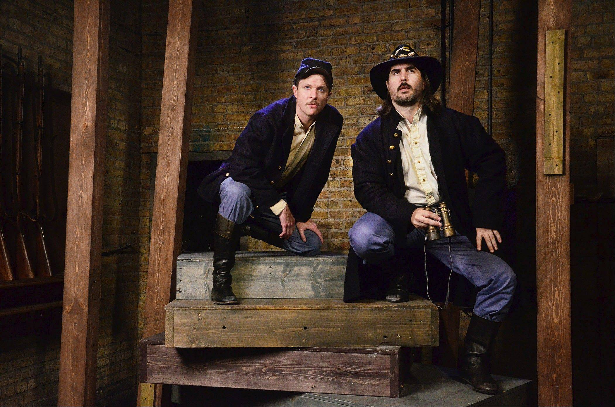 "Glendale Heights native Christopher Hainsworth, right, plays Union Army General John Buford, whose decision to hold the high ground south of Gettysburg during the Civil War proved crucial in the Union victory, in Lifeline Theatre's ""The Killer Angels."" Niall McGinty plays brigade commander Colonel Thomas C. Devin."