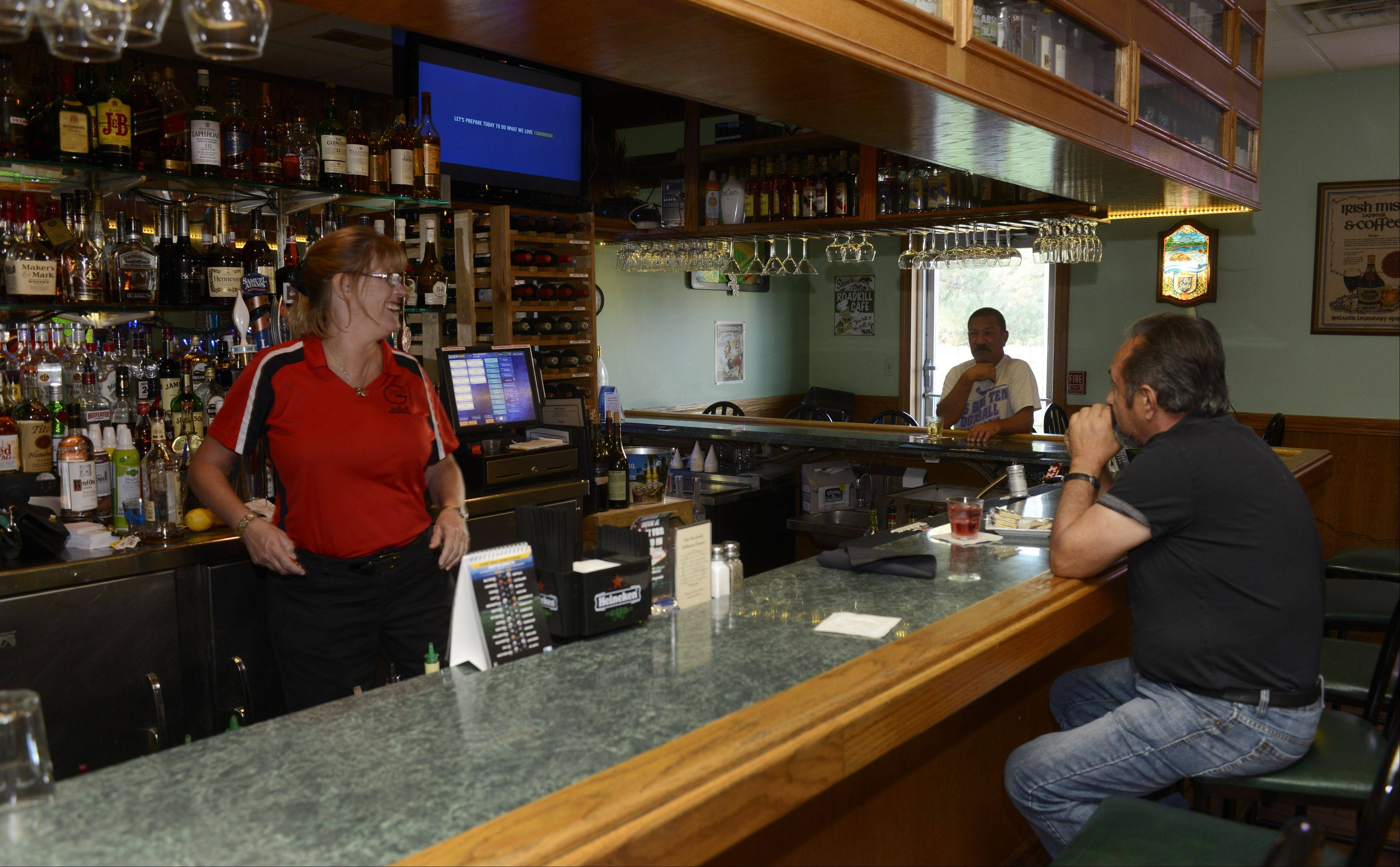 Gugg's Roadhouse serves a selection of domestic and craft brews.