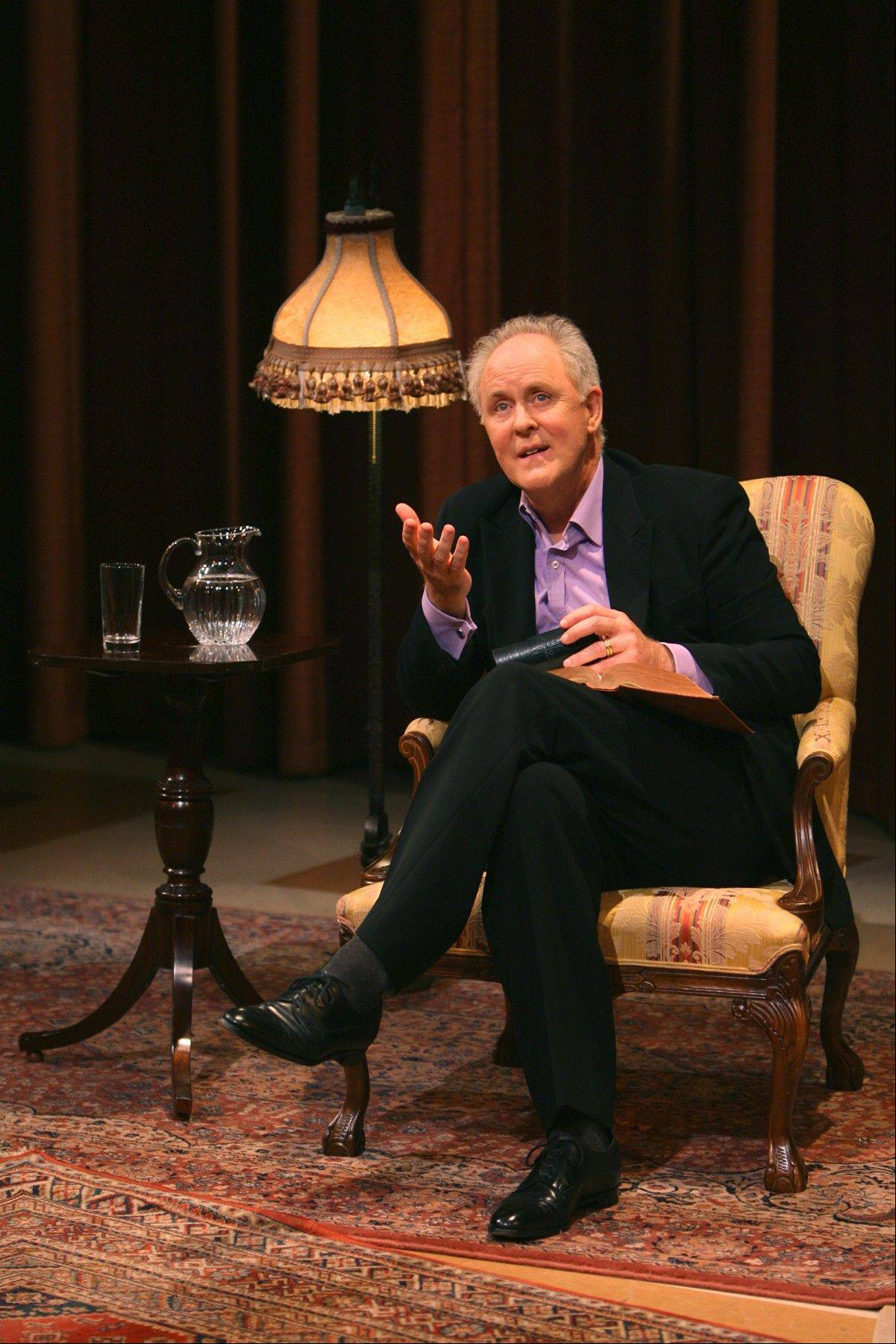 "Emmy and Tony Award-winner John Lithgow will perform his one-man show, ""Stories By Heart,"" at 7:30 p.m. Saturday, Nov. 2, at Elgin Community College's Arts Center and at 2 p.m. Sunday, Nov. 3, at the North Shore Center for the Performing Arts in Skokie."