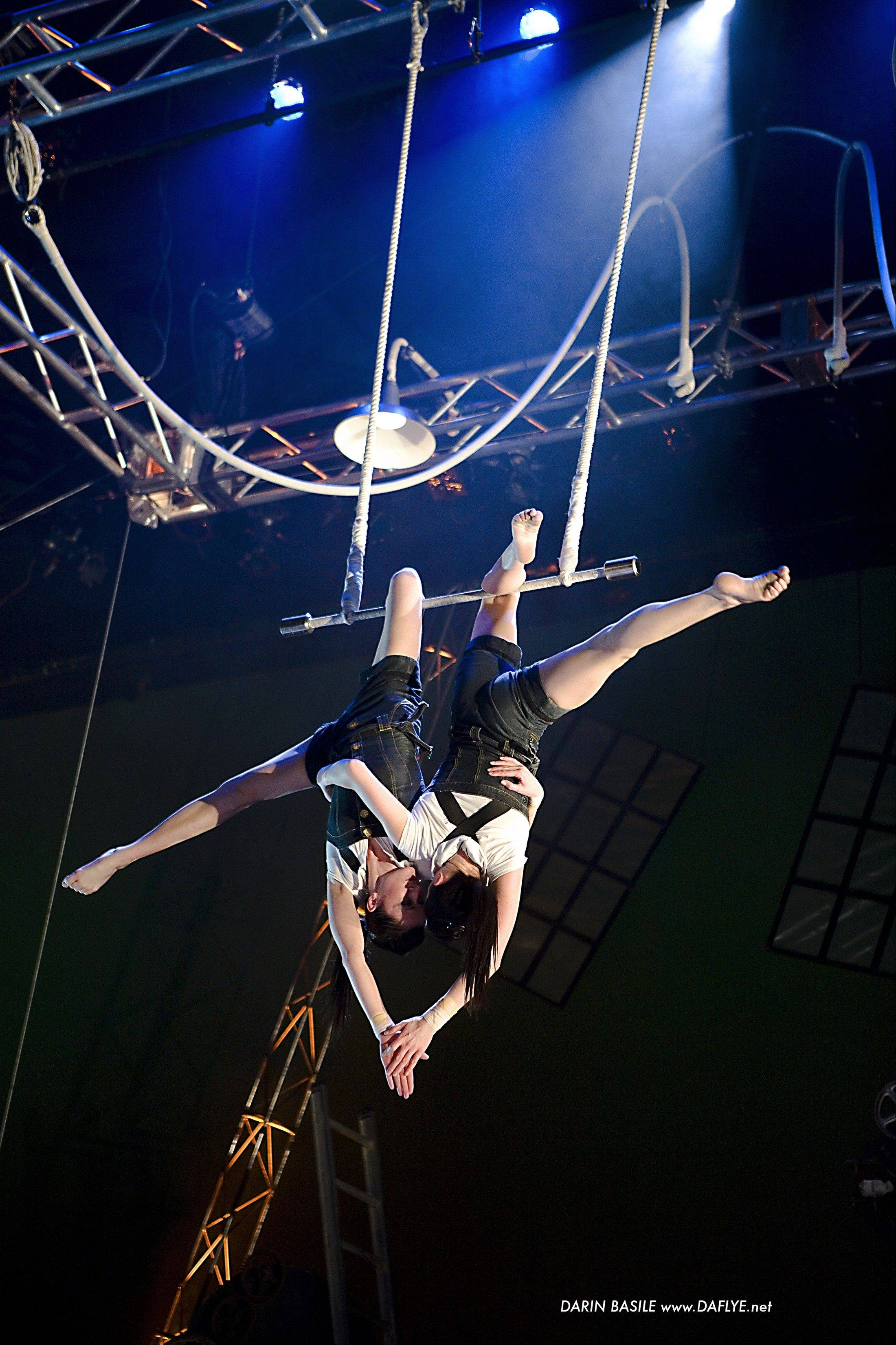 "Aerialists at work in Cirque Mechanics' ""Birdhouse Factory,"" which plays at 7:30 p.m. Wednesday, Oct. 30, at College of Lake County's Lumber Center for the Performing Arts in Grayslake."