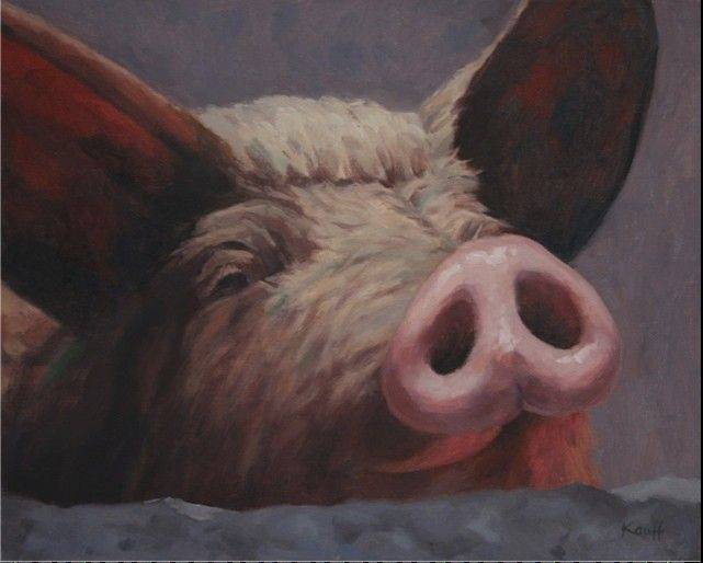 """Mr. Pig"" by Anne Kauff"
