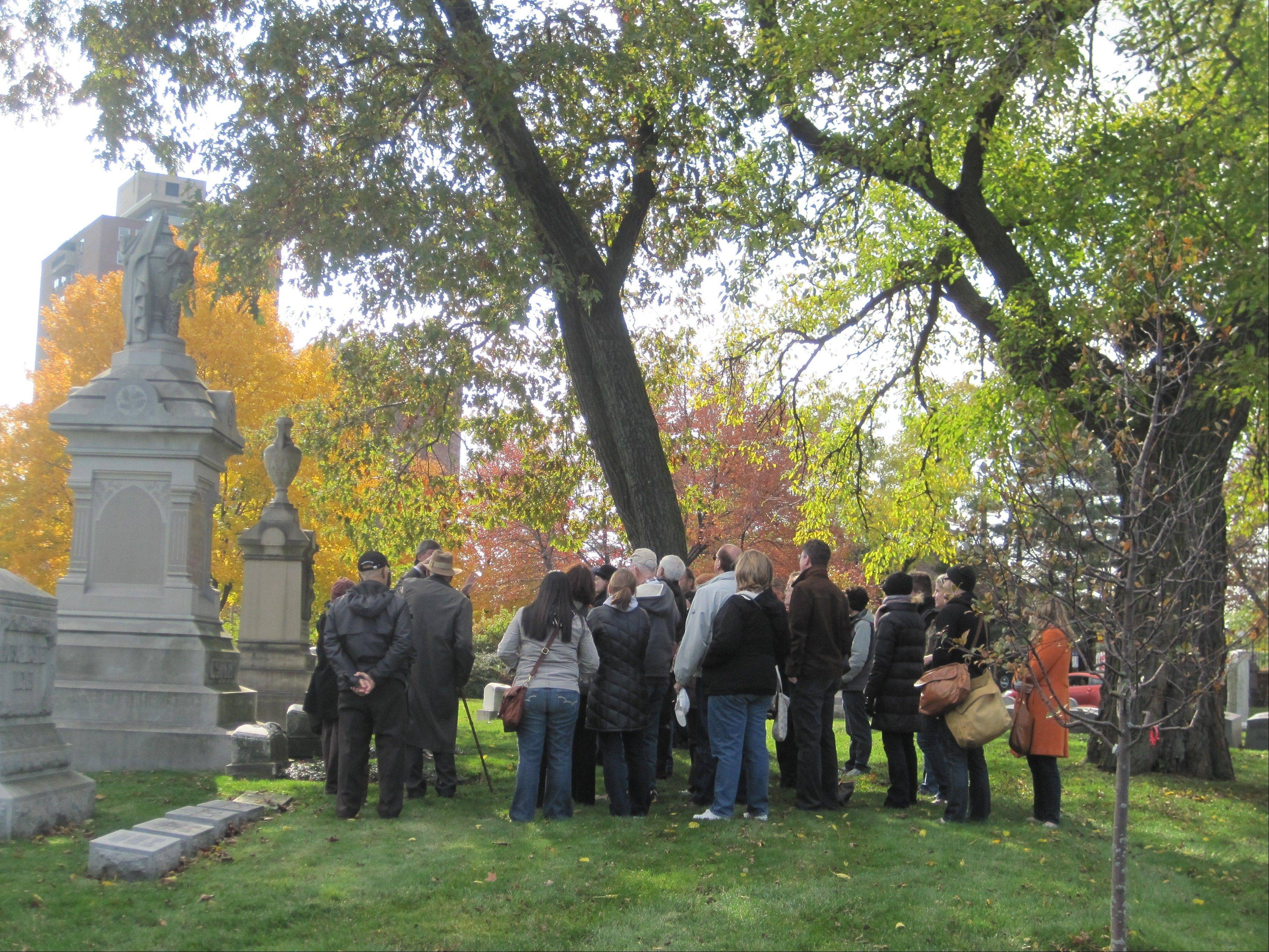 Take a decidedly spooky tour of Chicago's Graceland Cemetery this October.
