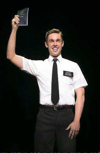 "The young missionary Elder Price (Nic Rouleau) is eager to share his faith in The Church of Jesus Christ of Latter-day Saints in the opening number of ""The Book of Mormon."" The Chicago run of this nine-time Tony Award-winning musical concludes Sunday, Oct. 6, at the Bank of America Theatre."