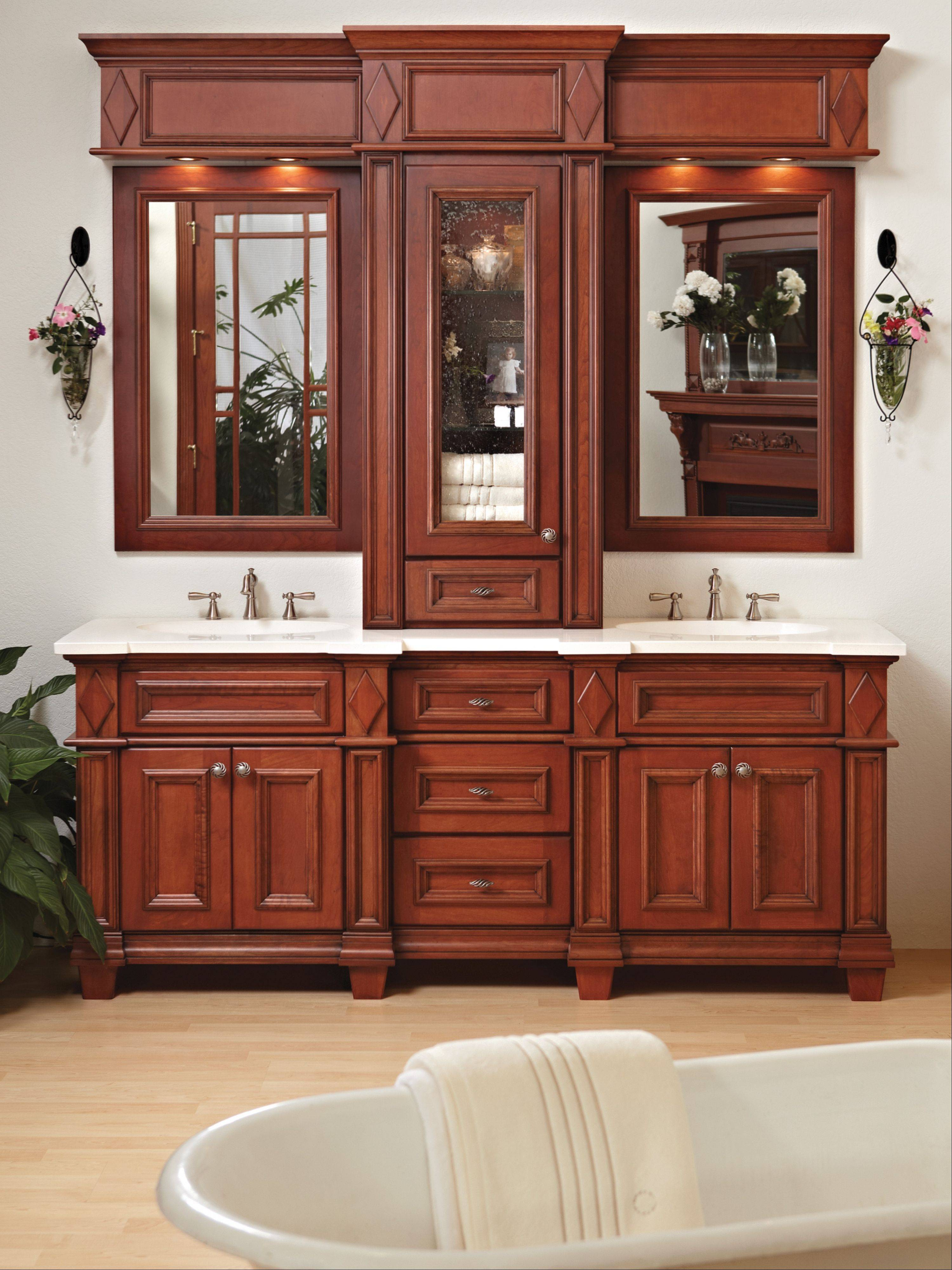Most of the remodeling being done today involves new bathrooms. Today�s style is cabinets with feet that look more like free-standing pieces.