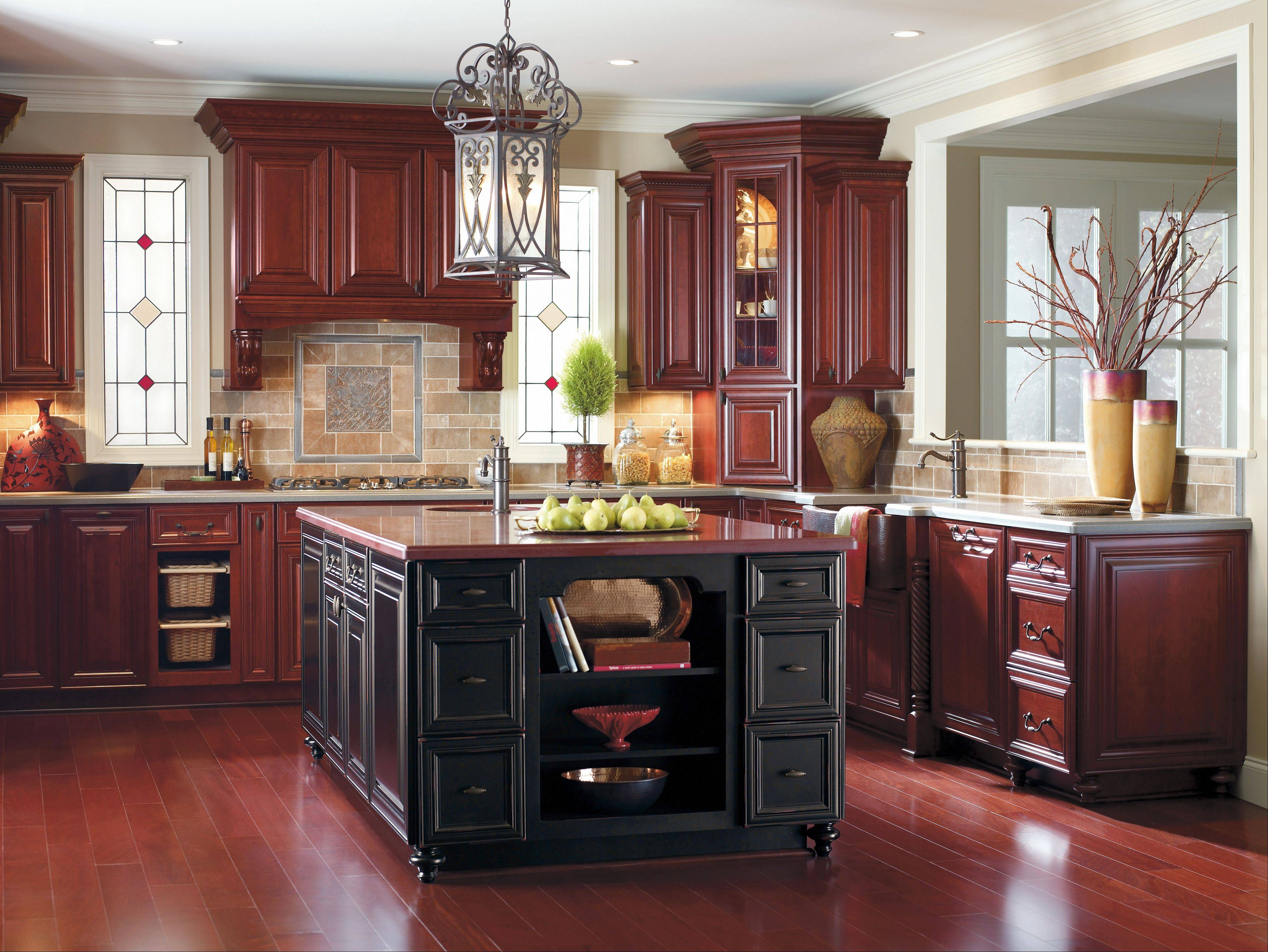 Hardwood is generally the choice for flooring in kitchen remodels.