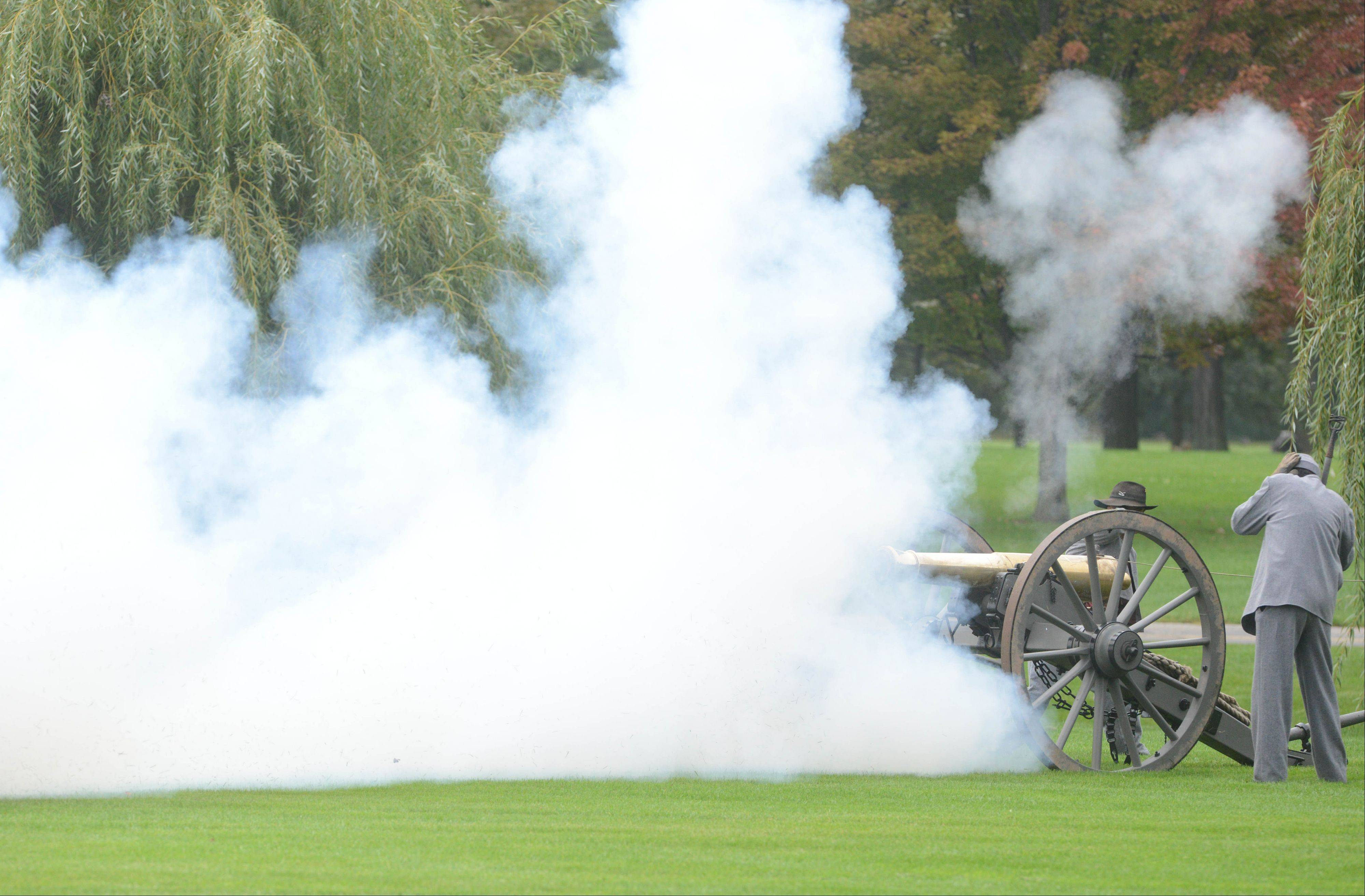Cantigny Park in Wheaton played host to a Civil War re-enactment from 10 a.m. to 4 p.m. Saturday and Sunday. Living History actors portraying soldiers and civilians interact with visitors. Actors portraying Abraham and Mary Todd Lincoln and Harriet Tubman were on hand.