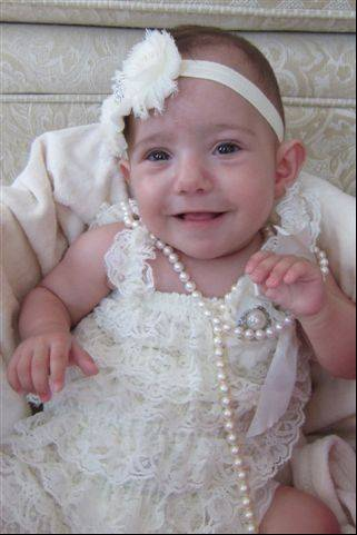 A happy Vivian Prestia at 8 months, taken in September.