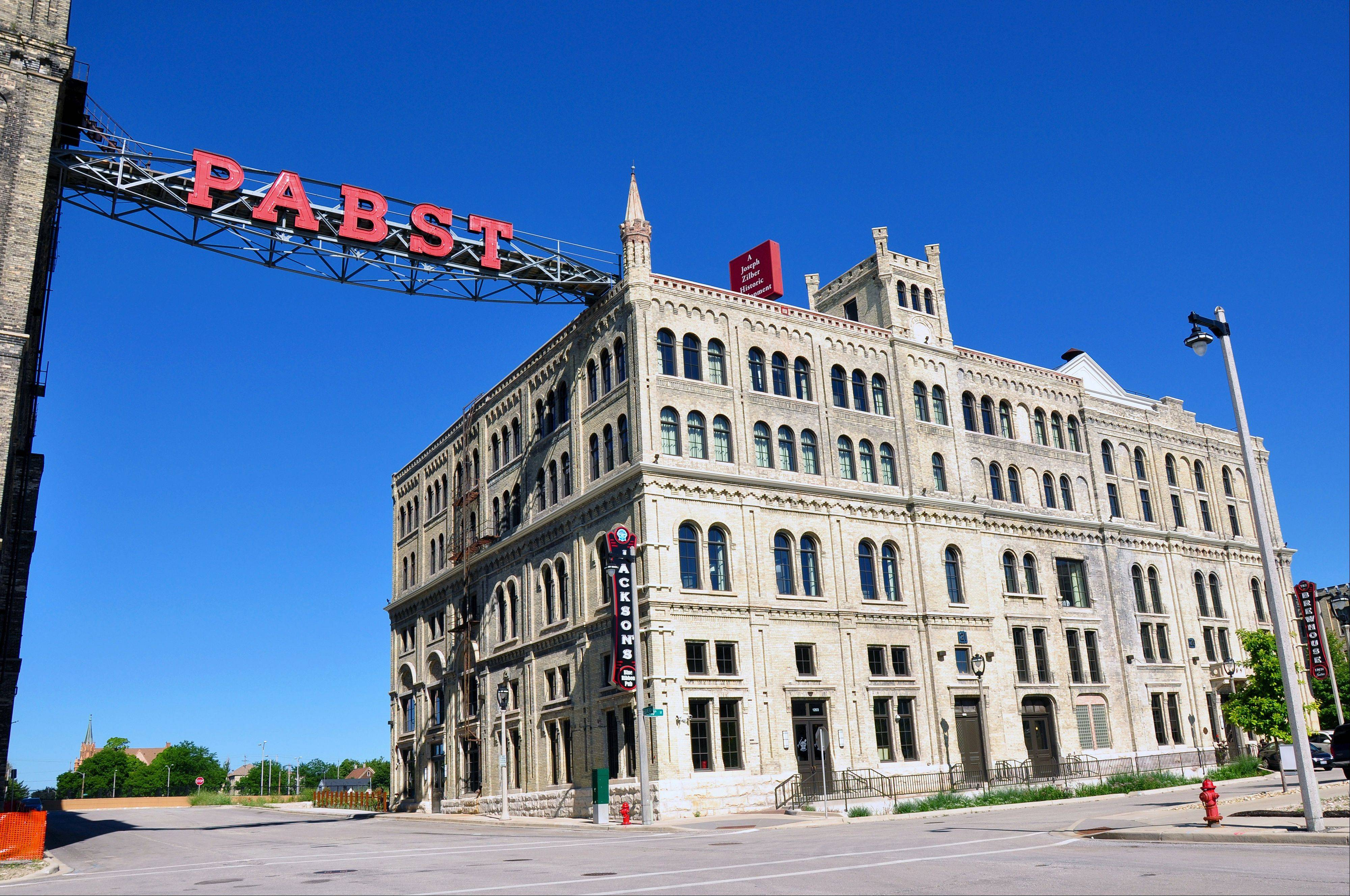 The former Pabst Brewery has been developed into a mixed-use complex that includes Milwaukee's new Brewhouse Inn & Suites.