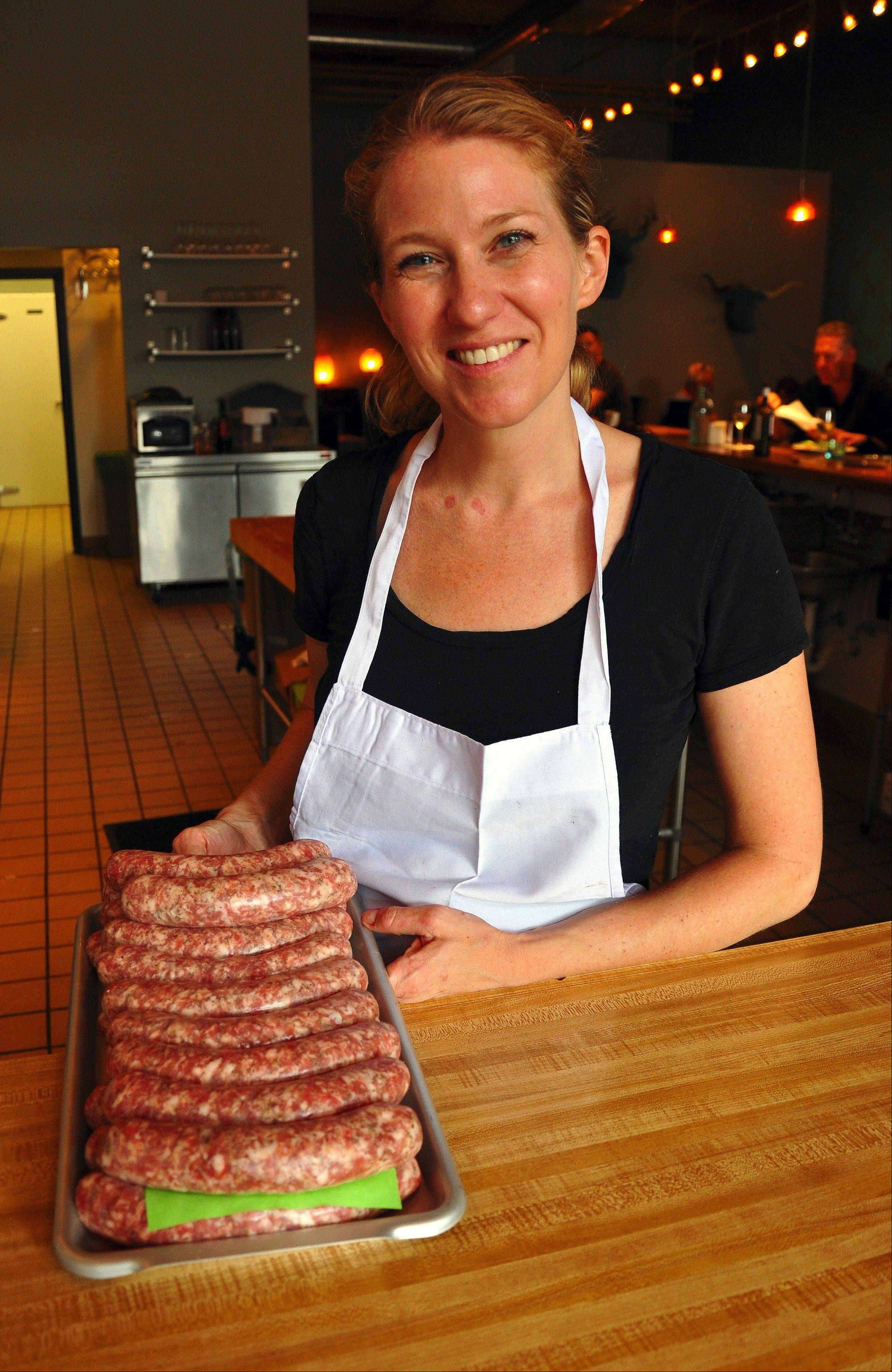 Artisan sausages are one of the items made by chef/owner Karen Bell at Bavette La Boucherie.