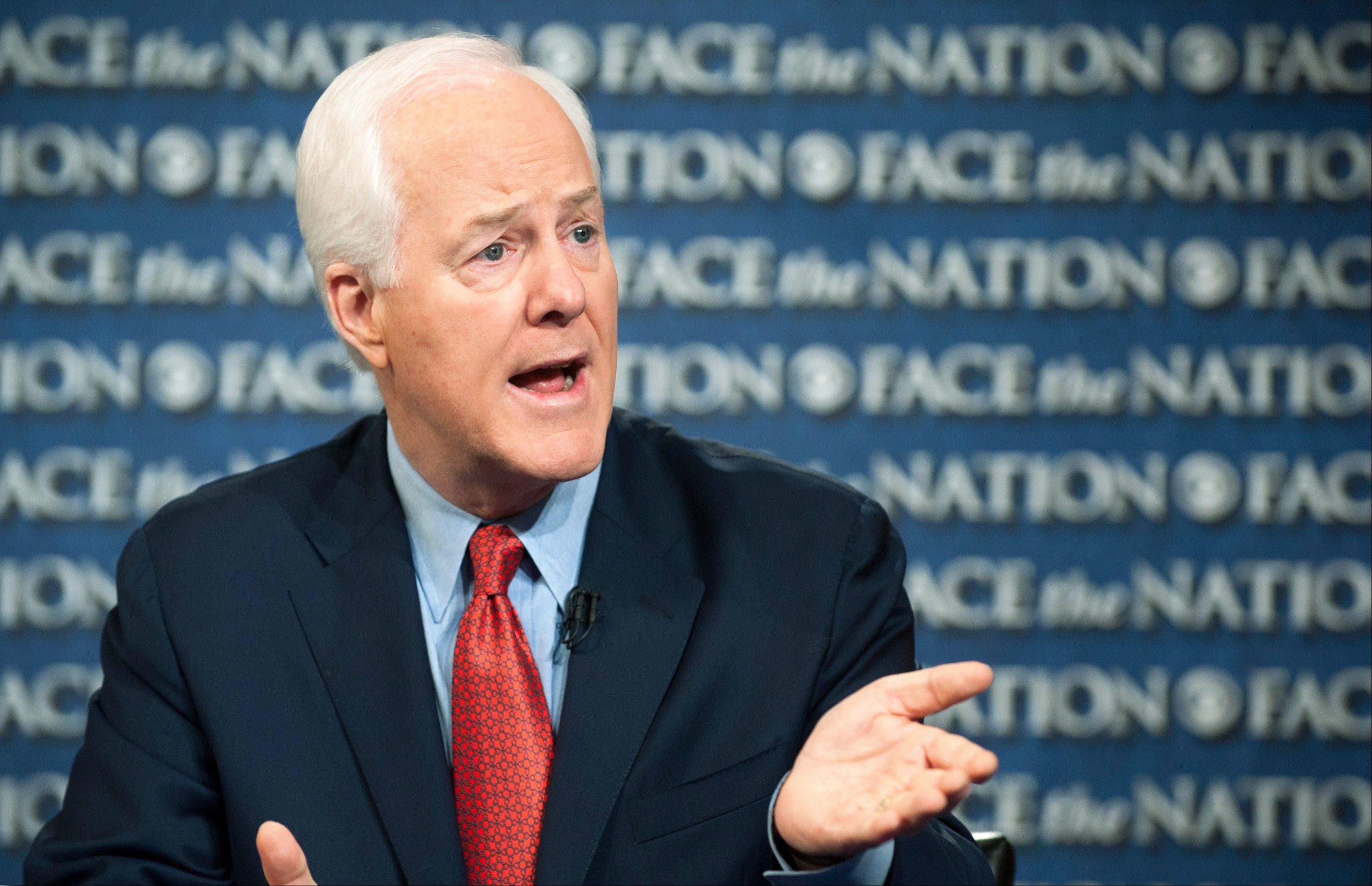 "Sen. John Cornyn, a Texas Republican who appeared on CBS's ""Face the Nation"" Sunday, said the partial federal government shutdown cannot end without President Barack Obama sitting down with congressional Republicans. ""What he needs to do is to roll up his sleeves,"" Cornyn said. ""We're not going to resolve this without the president engaging."""