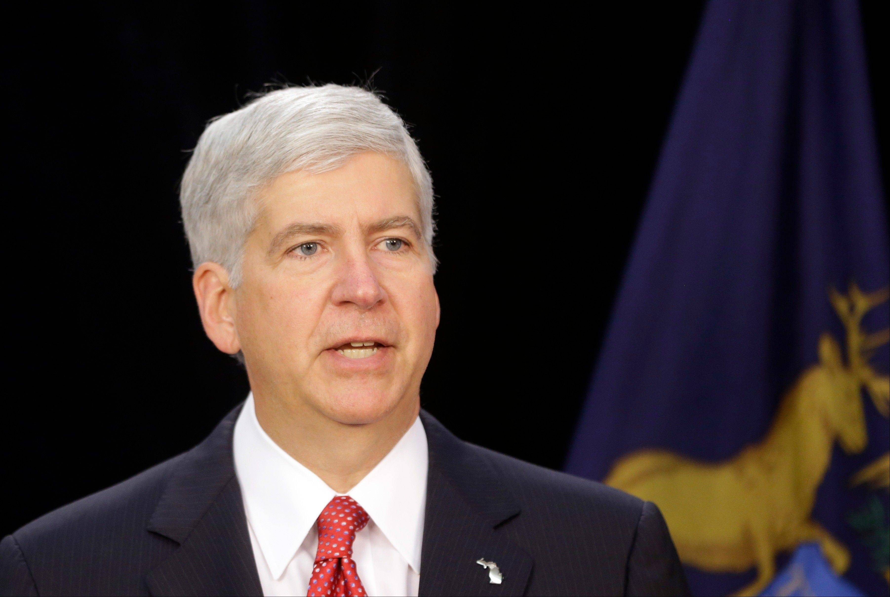 "Michigan Gov. Rick Snyder, who fought tough battles over fiscal issues with Democrats in the GOP-controlled legislature, made his state's budget negotiating process sound like a high school civics class. His advice to his federal counterparts: ""Stop blaming, stop taking credit, get in a room, solve the problem and keep moving forward."""