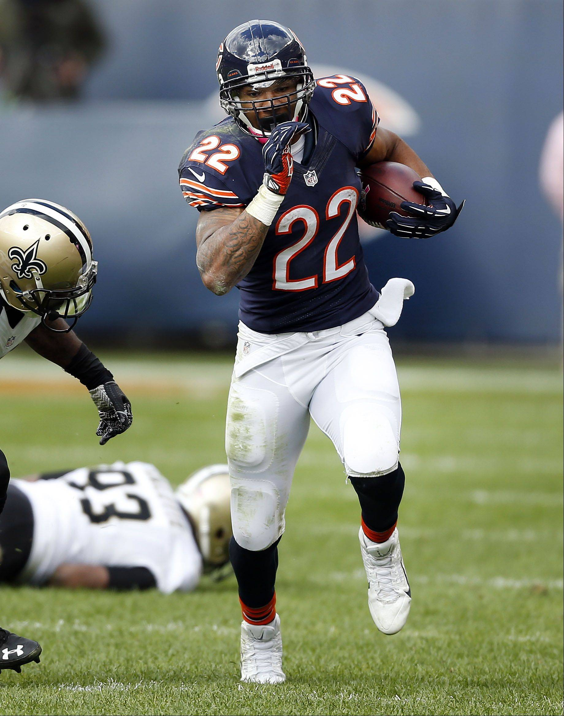 Chicago Bears running back Matt Forte runs during their 26-18 loss Sunday.