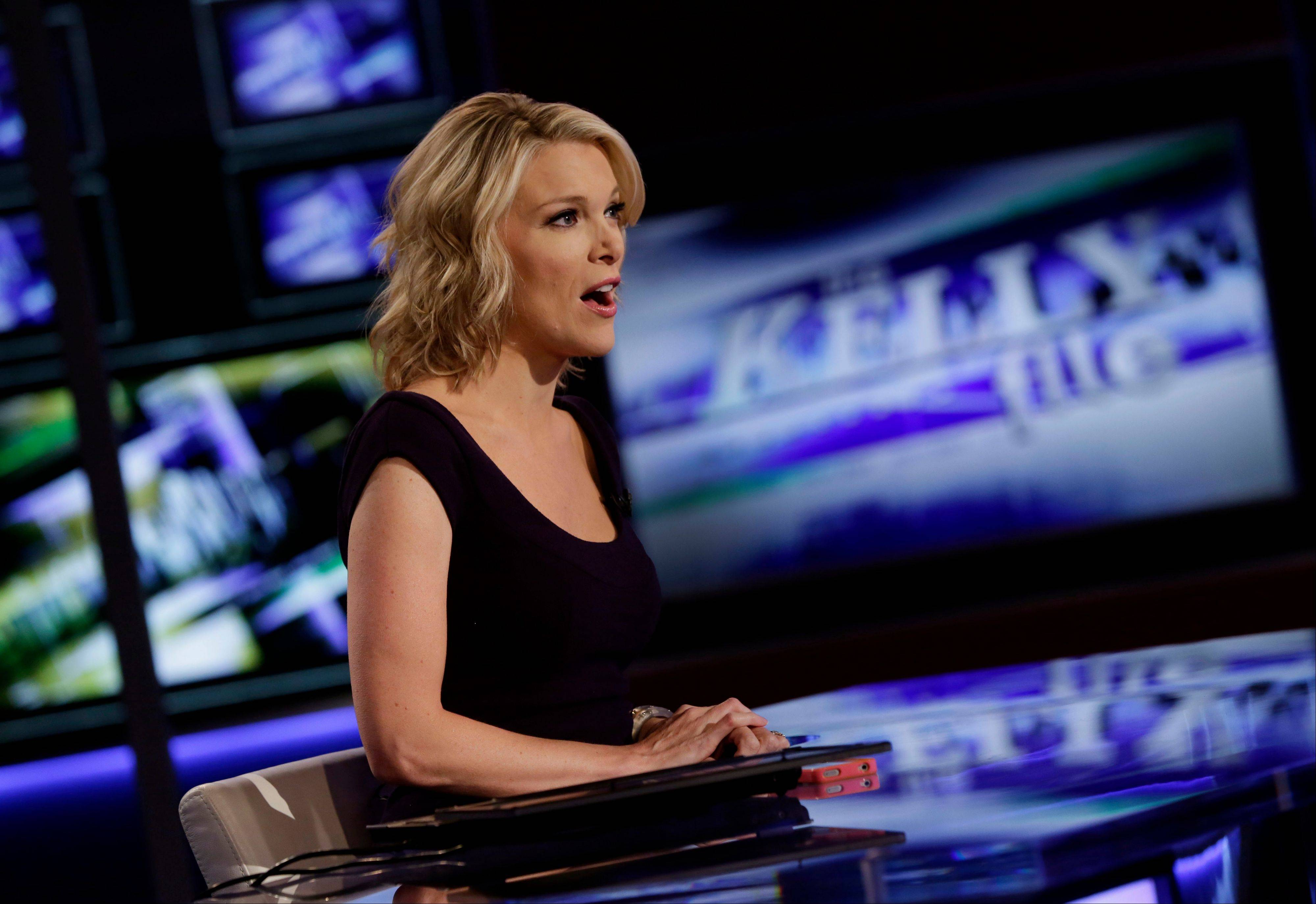 "Megyn Kelly, host of Fox News Channel's ""The Kelly Files,"" rehearses for the debut of her new show, which premieres Monday. Her program is the linchpin to the first overhaul of Fox's prime-time lineup since 2002, or about a century in television time."