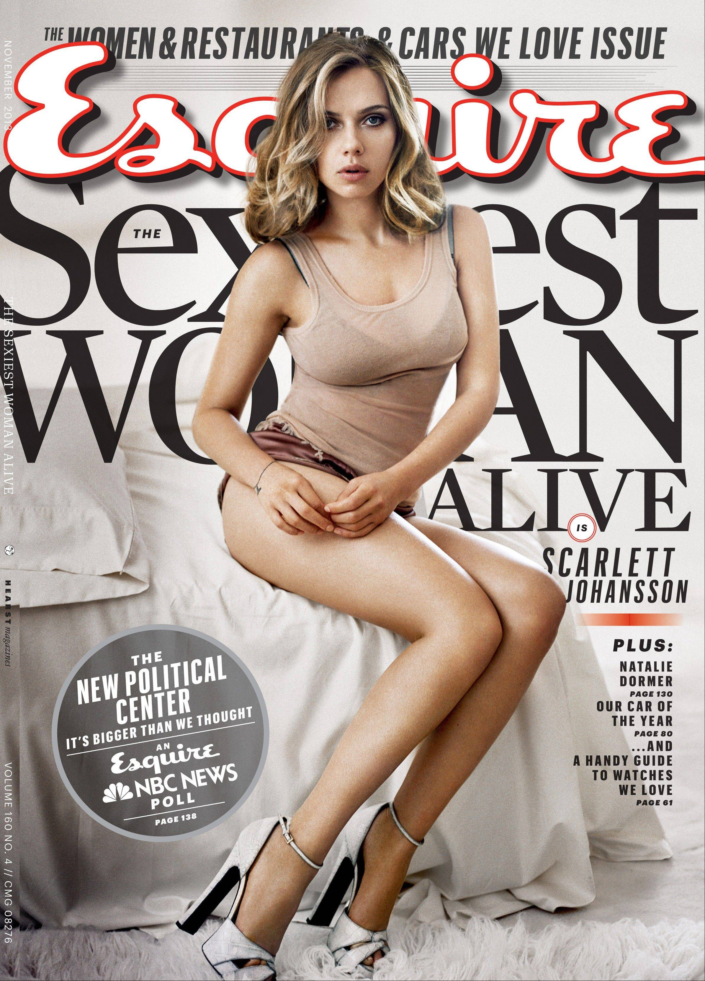 Scarlett Johansson has earned the title of Esquire magazine's sexiest woman alive, for a second time. She also won in 2006.