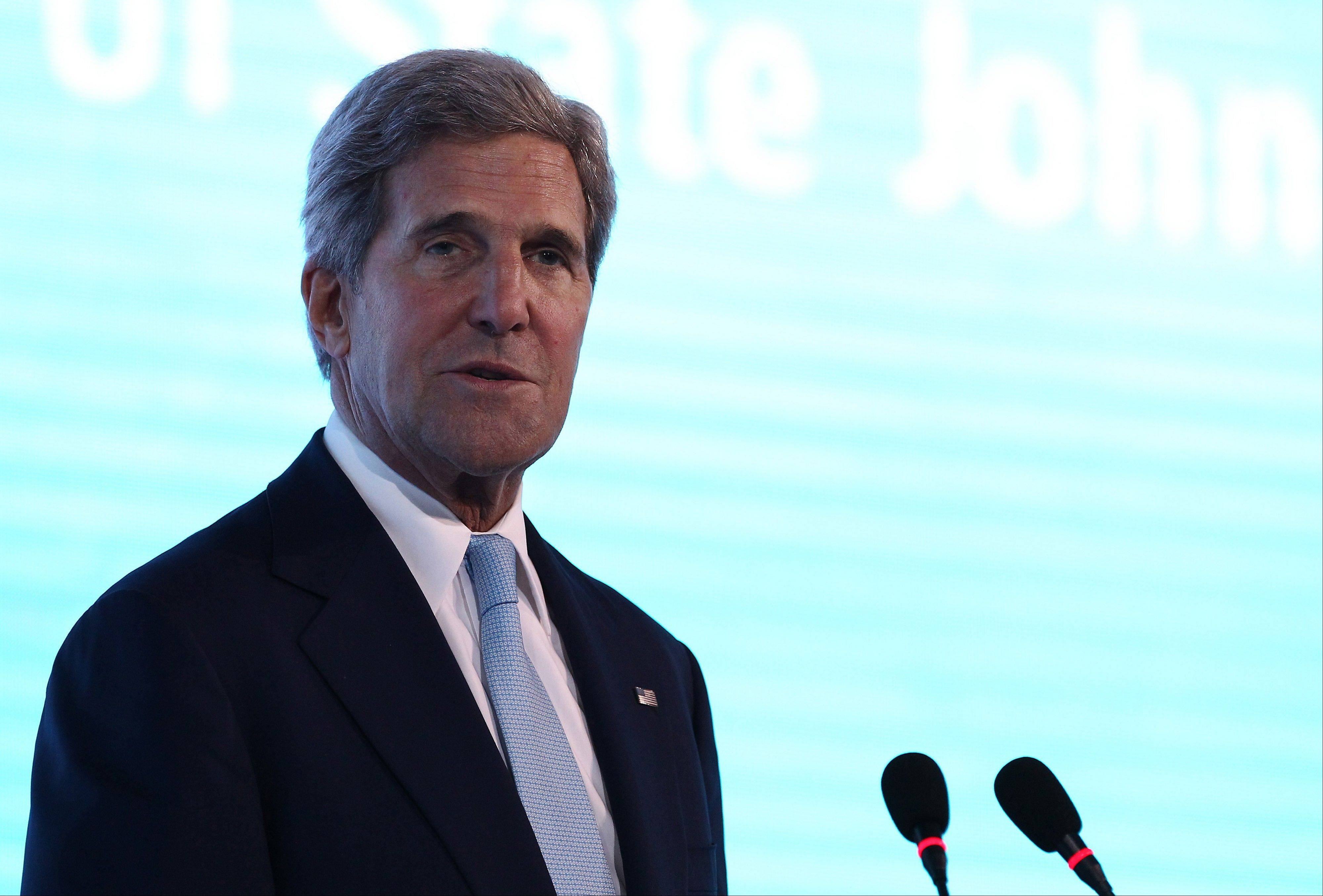 John Kerry, U.S. secretary of state, speaks at the Asia-Pacific Economic Cooperation (APEC) CEO Summit in Nusa Dua, Bali, Indonesia, Monday.