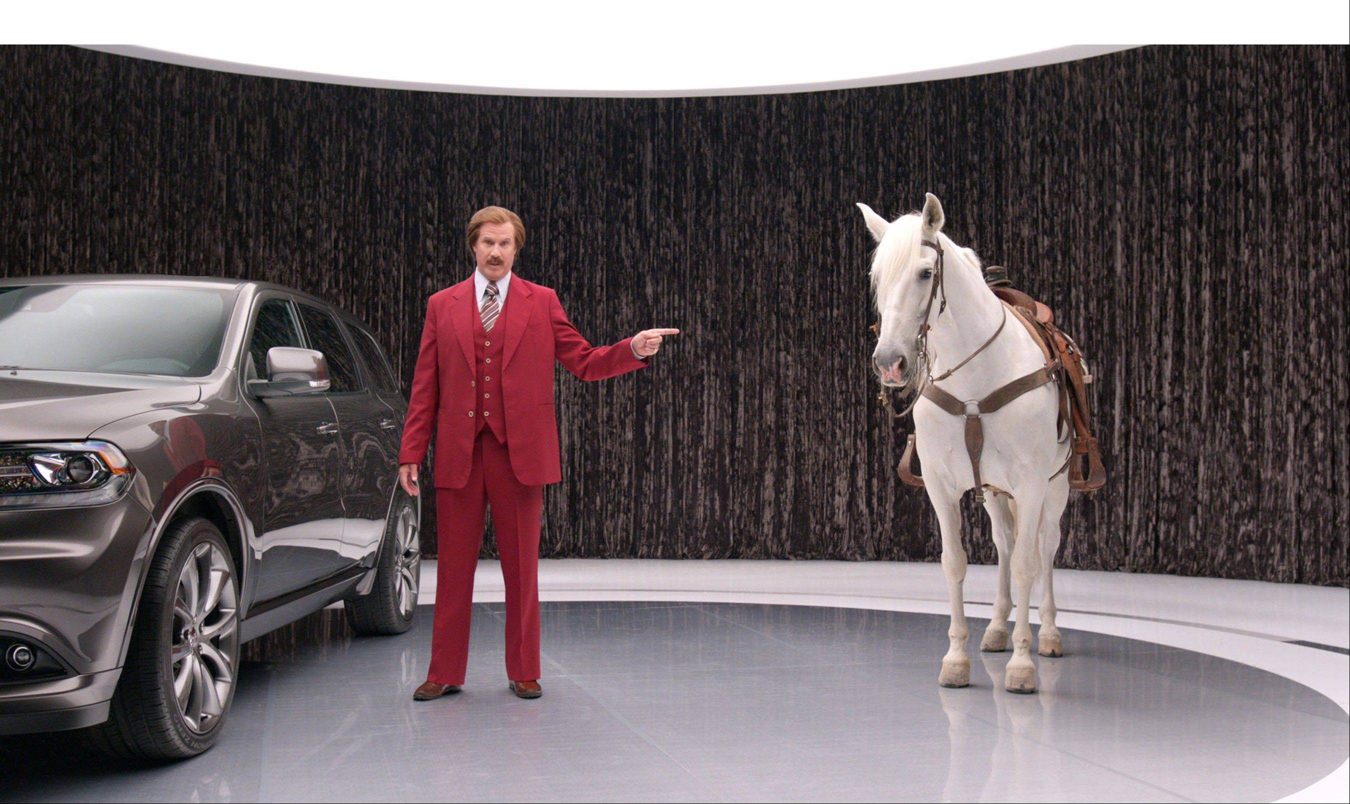 "Ron Burgundy (Will Ferrell) anchors the 2014 Dodge Durango advertising campaign in a unique partnership with Dodge and Paramount Pictures' upcoming film, ""Anchorman 2: The Legend Continues."""