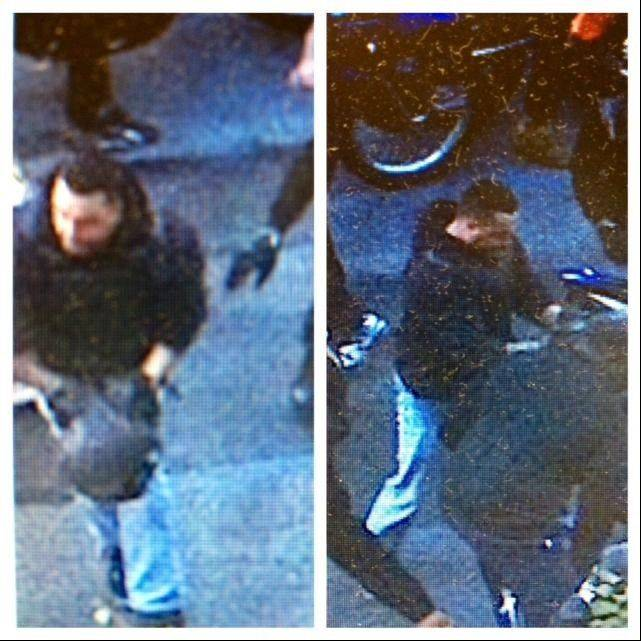 This combination of undated images released by the the New York City Police Department shows a man wanted for questioning in regards to an assault on Sept. 29, 2013 where dozens of bikers stopped a Range Rover SUV on a highway, attacked the vehicle, then chased the driver and pulled him from the car after he plowed over a motorcyclist while trying to escape.