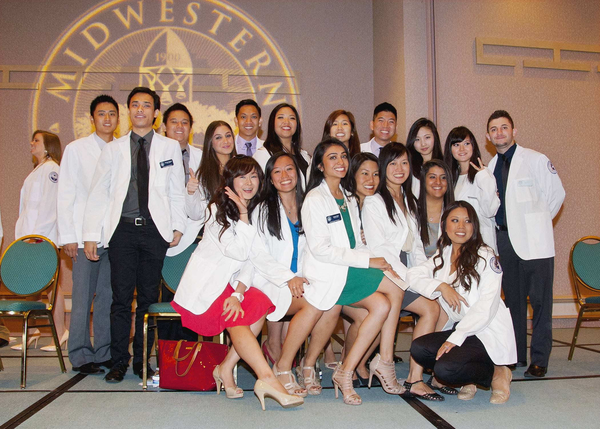 Students from Midwestern University's Chicago College of Pharmacy, celebrate the beginning of their professional careers at the White Coat Ceremony.