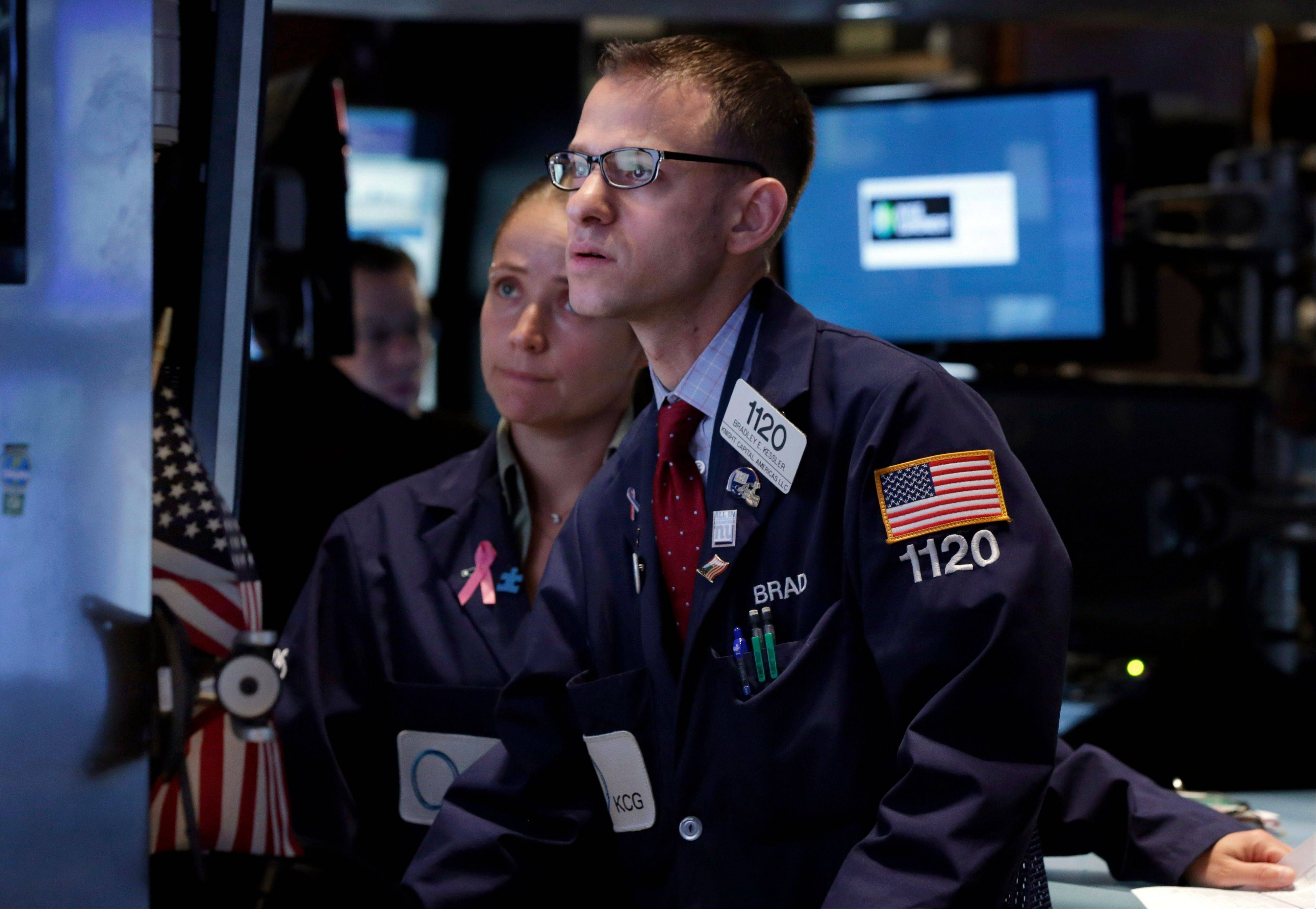 U.S. stocks fell, giving the Standard & Poor's 500 Index its biggest two-day loss since June, as concern grew that a deadlock among U.S. lawmakers over the debt limit could lead to a government default.