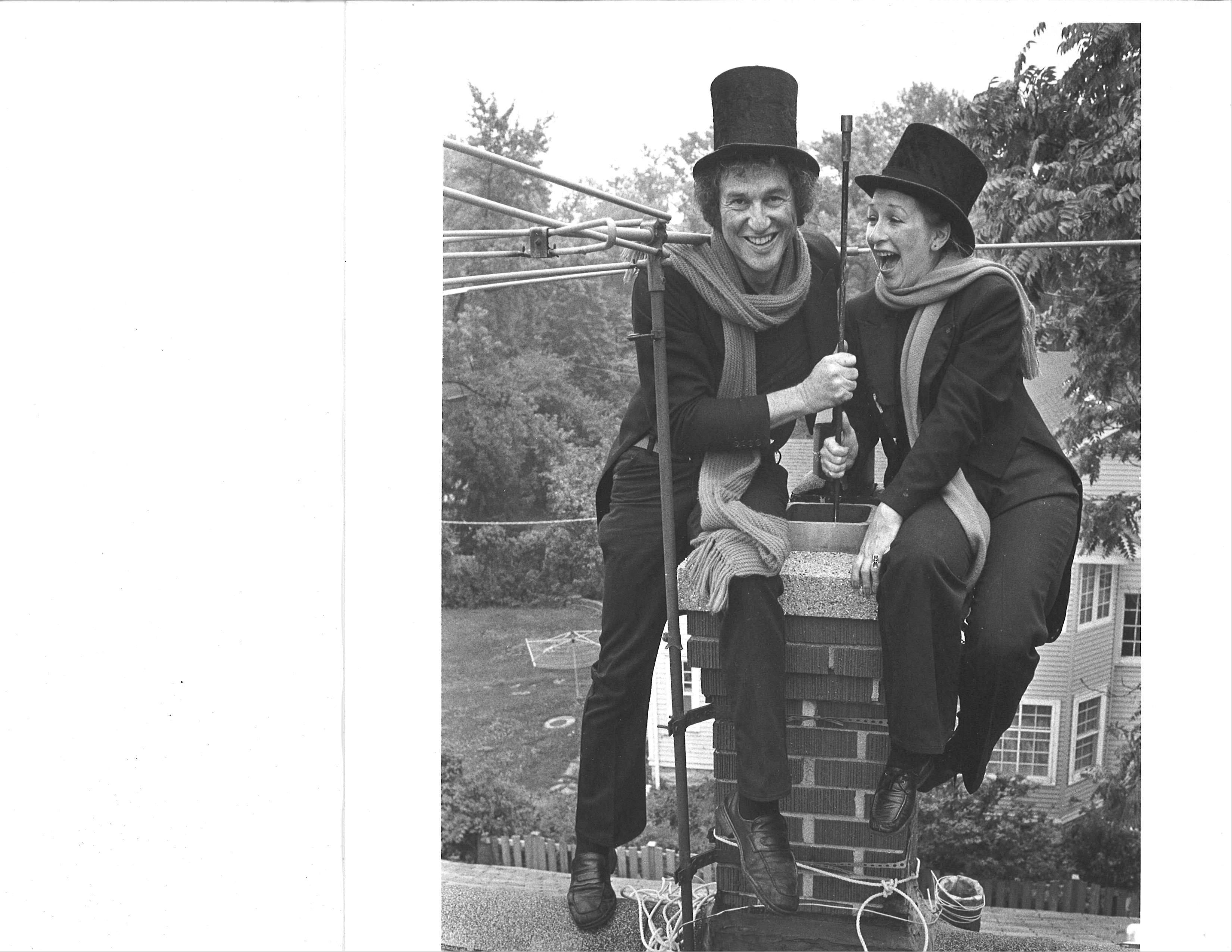 Having given up corporate careers to work together as chimney sweeps, David and Dee Stoll still use their business talents to create and promote a campaign built around their Dusty the chimney sweep character.