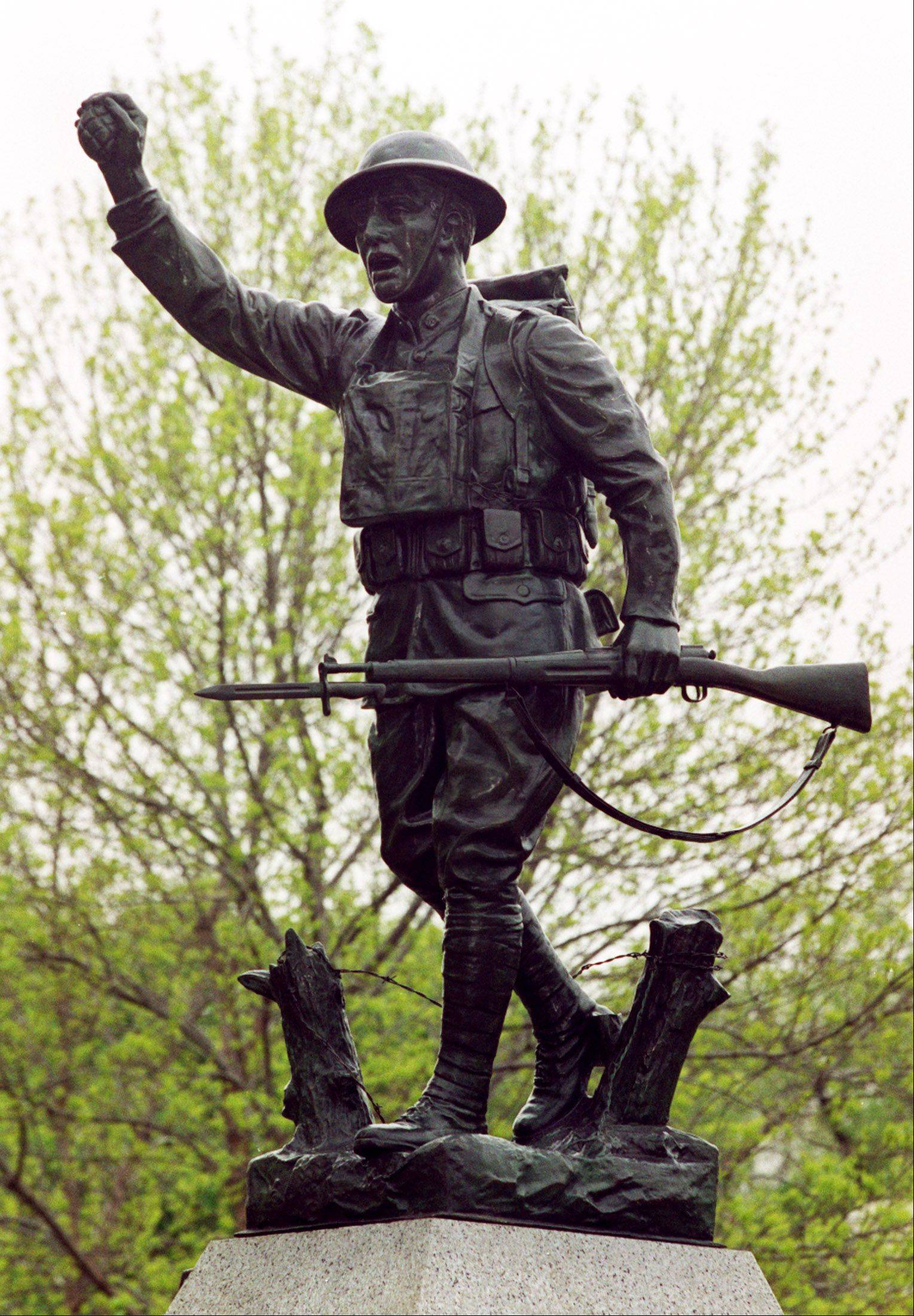 """The Spirit of the American Doughboy"" sculpture in Naperville's Burlington Square Park officially will be joined this weekend by a sculpture celebrating the U.S. Navy."