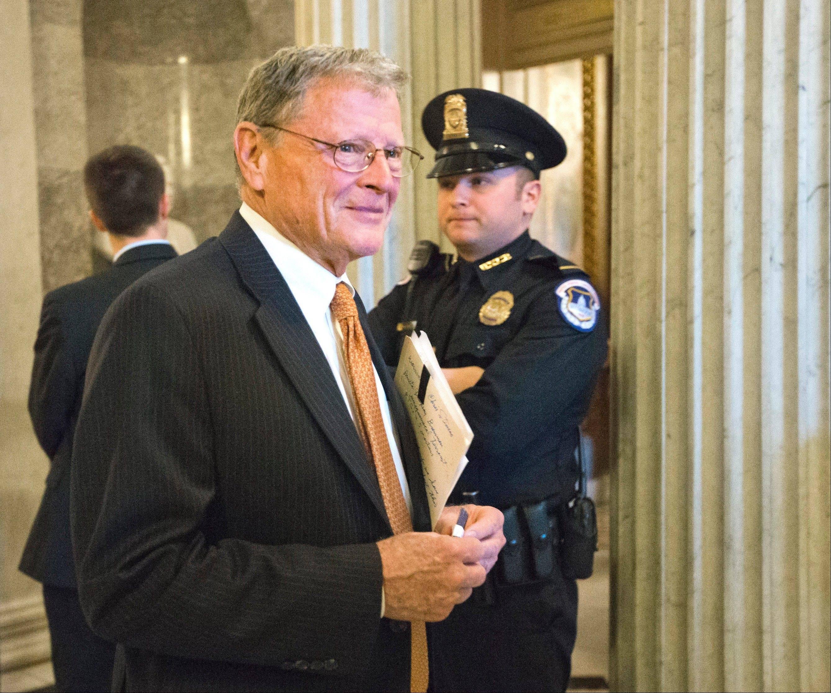 Sen. James Inhofe, R-Okla., is recovering in a Tulsa hospital after undergoing an emergency quadruple bypass last week. The Republican senator, who turns 79 next month, said doctors discovered the massive blockage in his arteries during a routine medical screening. He flew home to Tulsa and underwent the emergency heart surgery Friday at St. John Medical Center, the Tulsa World reported.