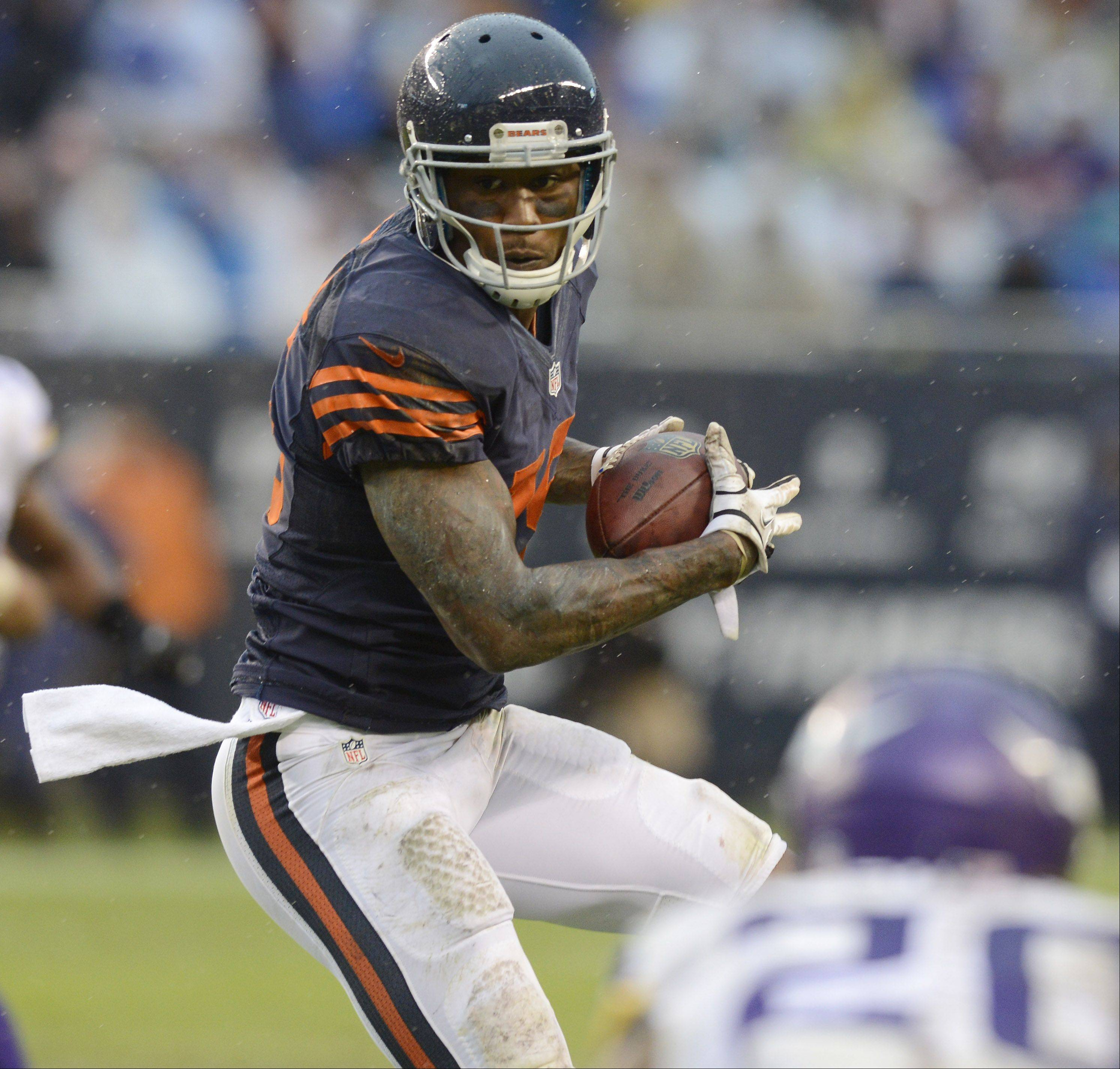 The Bears' Brandon Marshall says he's just like any other wide receiver who wants to catch the ball.