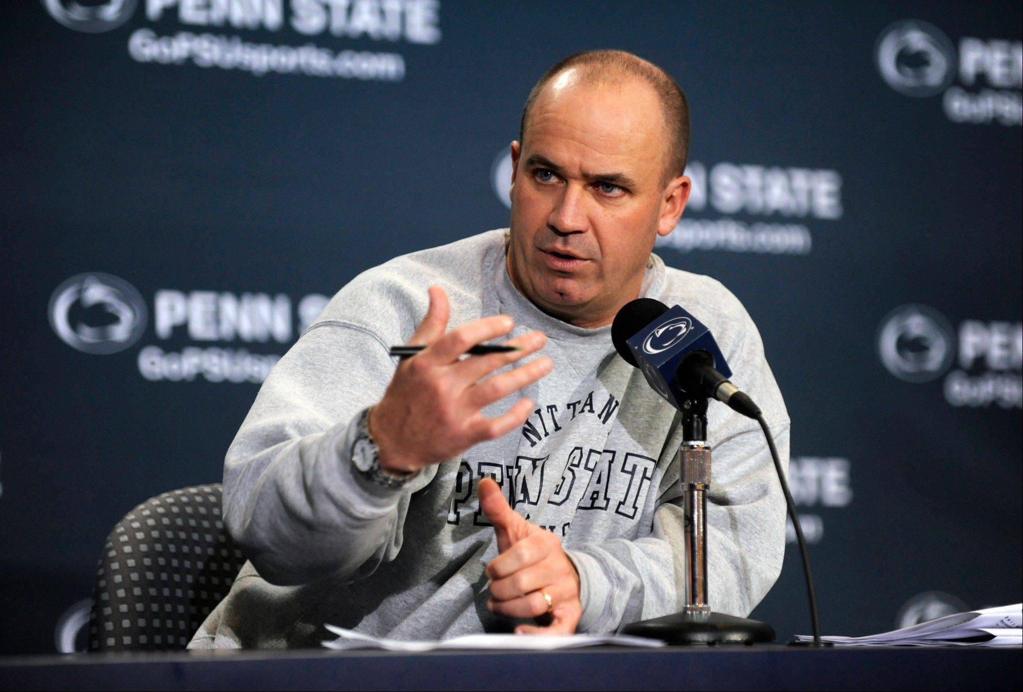 Penn State coach Bill O'Brien speaks at his weekly news conference Tuesday in State College, Pa. Penn State plays Michigan on Saturday at home