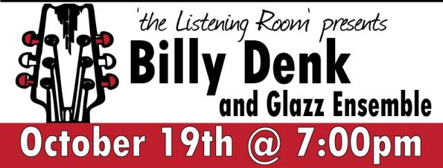 Bill Denk  an enthusiastic jazz musician performs on 10/19 at 7:30pm at 'the Listening Room' at Lakeside Legacy Arts Park in Crystal Lake, IL. To purchase tickets and for more information visit www.LakesideLegacy.org.