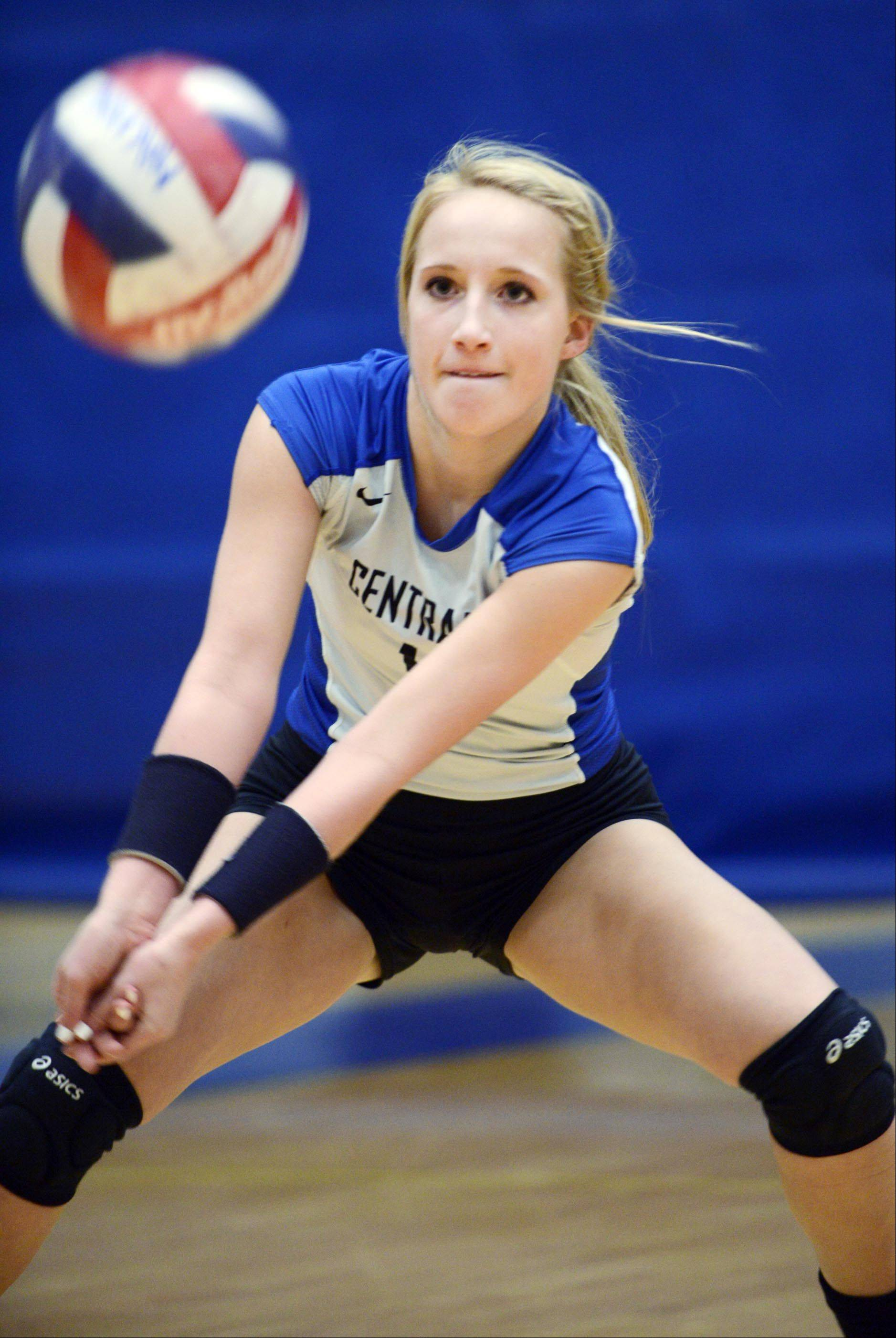 Allie O�Reilly is Burlington Central�s all-time digs leader.