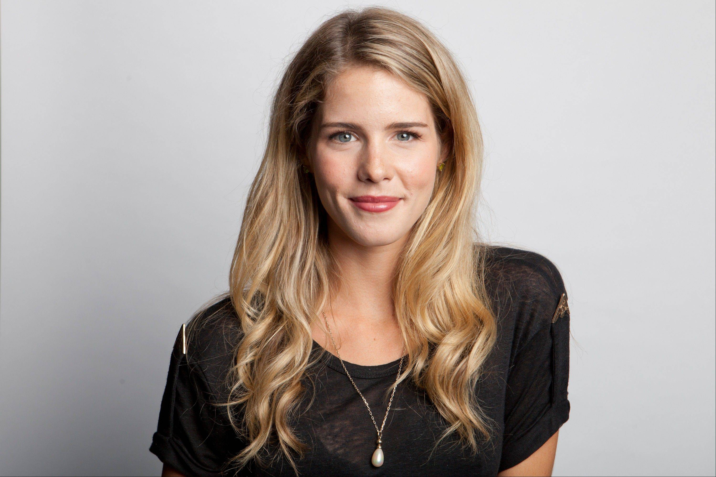 "Canadian actress Emily Bett Rickards is now a regular on The CW series ""Arrow,"" which returns for its new season at 7 p.m. Wednesday, Oct. 9."