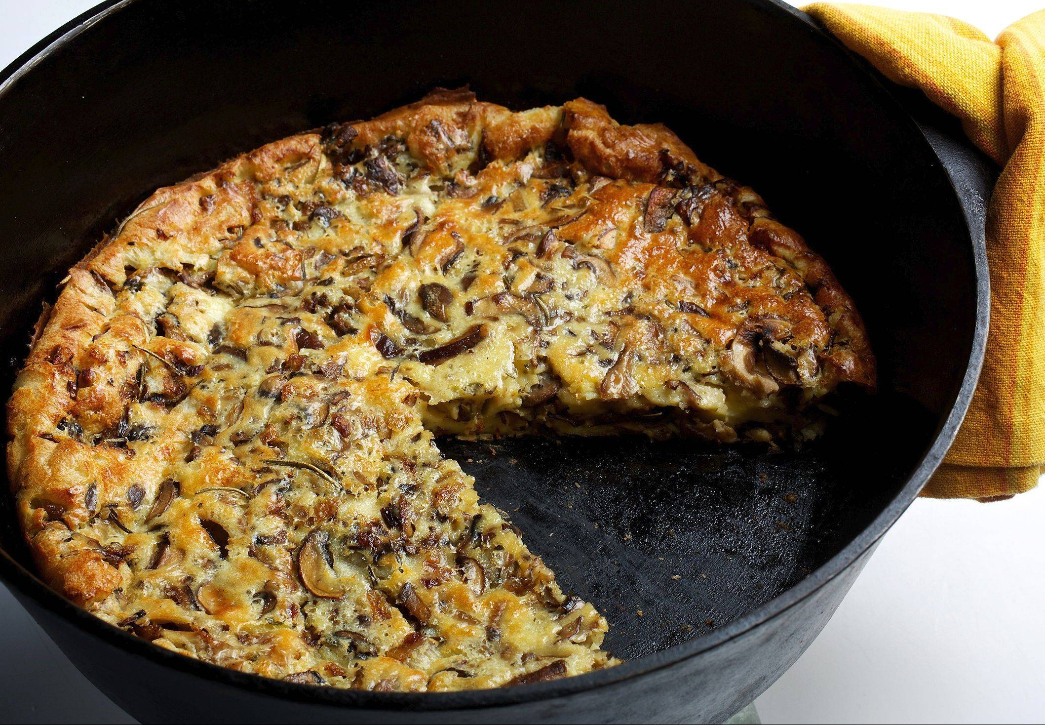 For the deepest flavor, use a combination of white and shiitake mushrooms in Mollie Katzen's Mushroom Popover Pie.