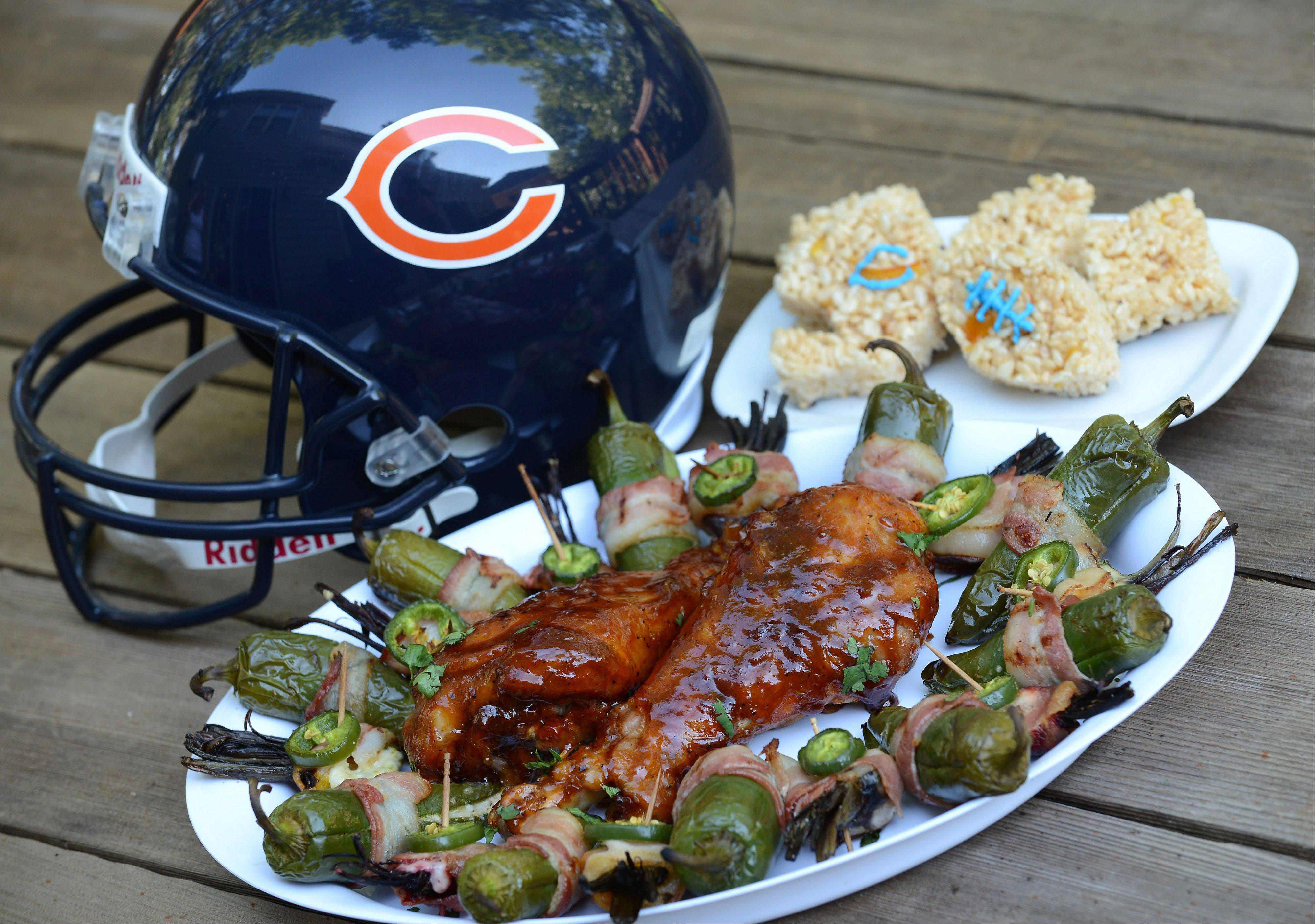 Jeff Zilch created two types of game day snacks using beets, turkey, havarti cheese and jalape�os.