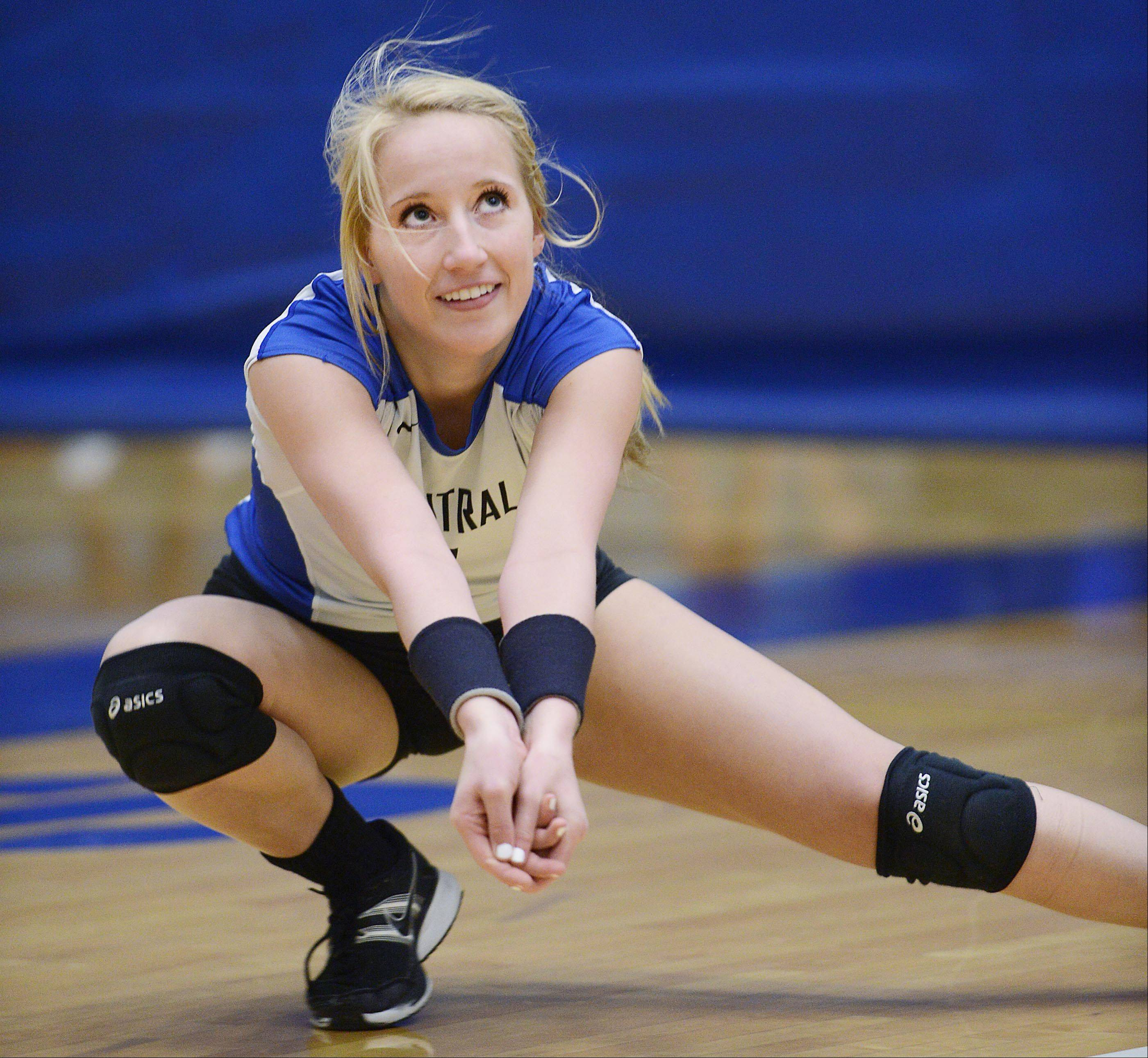 Allie O'Reilly is Burlington Central's all-time digs leader.