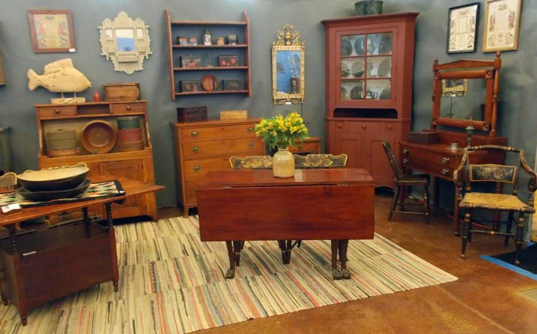 There will be 55 room displays illustrating how to decorate with antiques; here Caulkins House Antiques