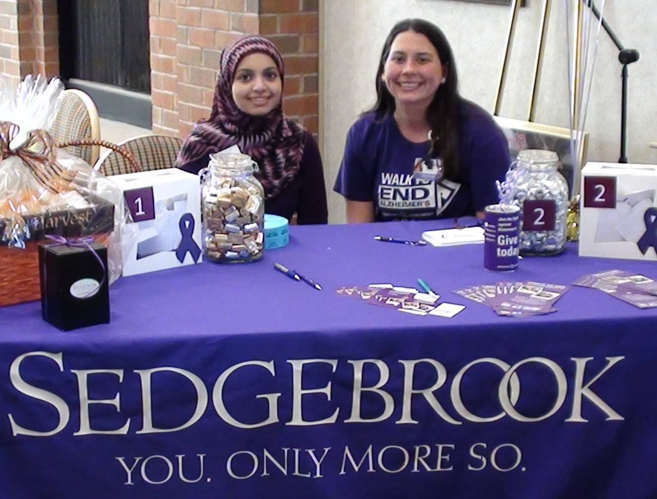 Saba Ahmed (left), Dementia Unit Coordinator at Radford Green and Joanne Kopper, social services coordinator at Sedgebrook are raising funds for the Alzheimer's Association