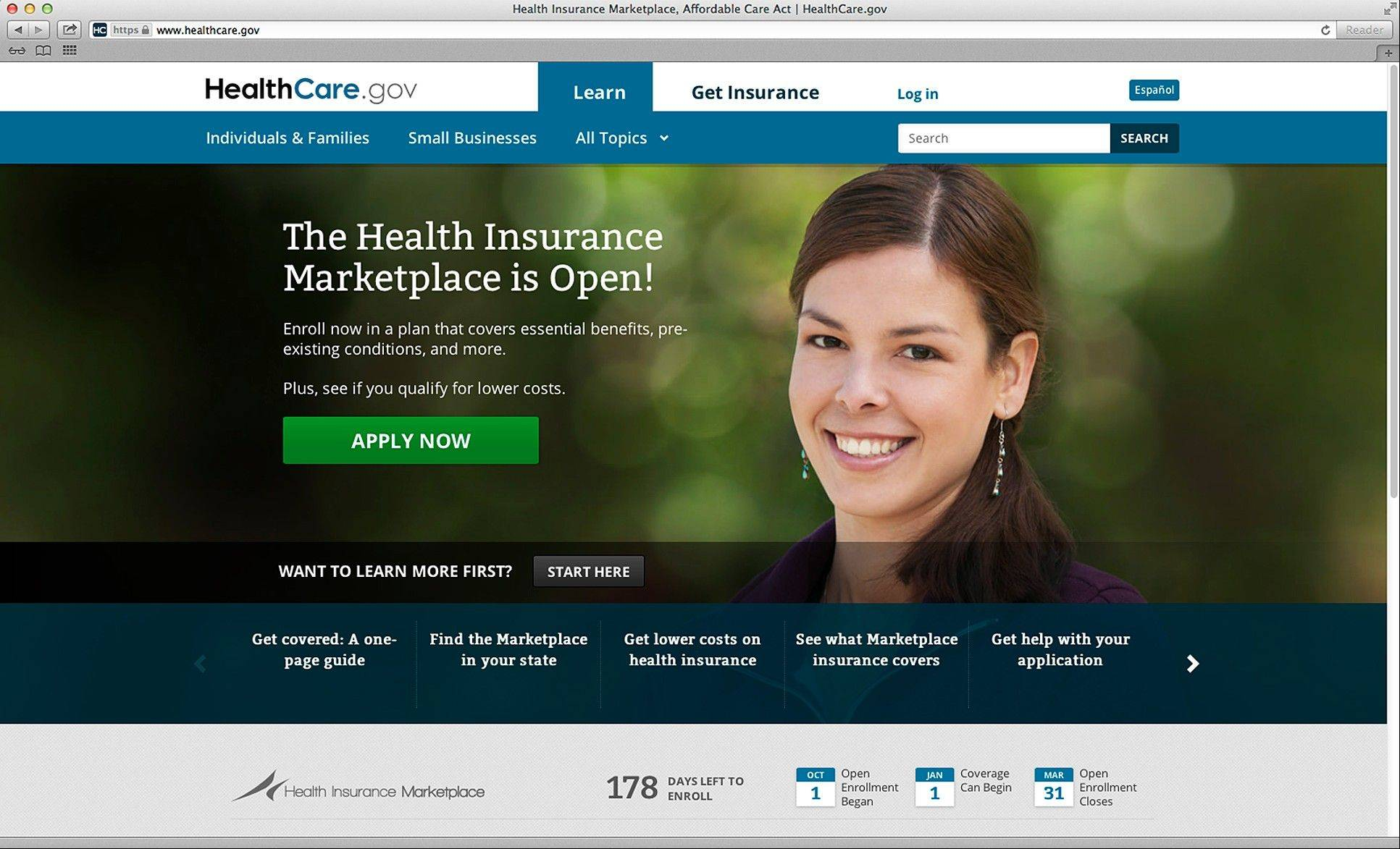 The government�s new health insurance marketplaces are drawing lots of rotten tomatoes in early reviews. But people are at least checking the things out.