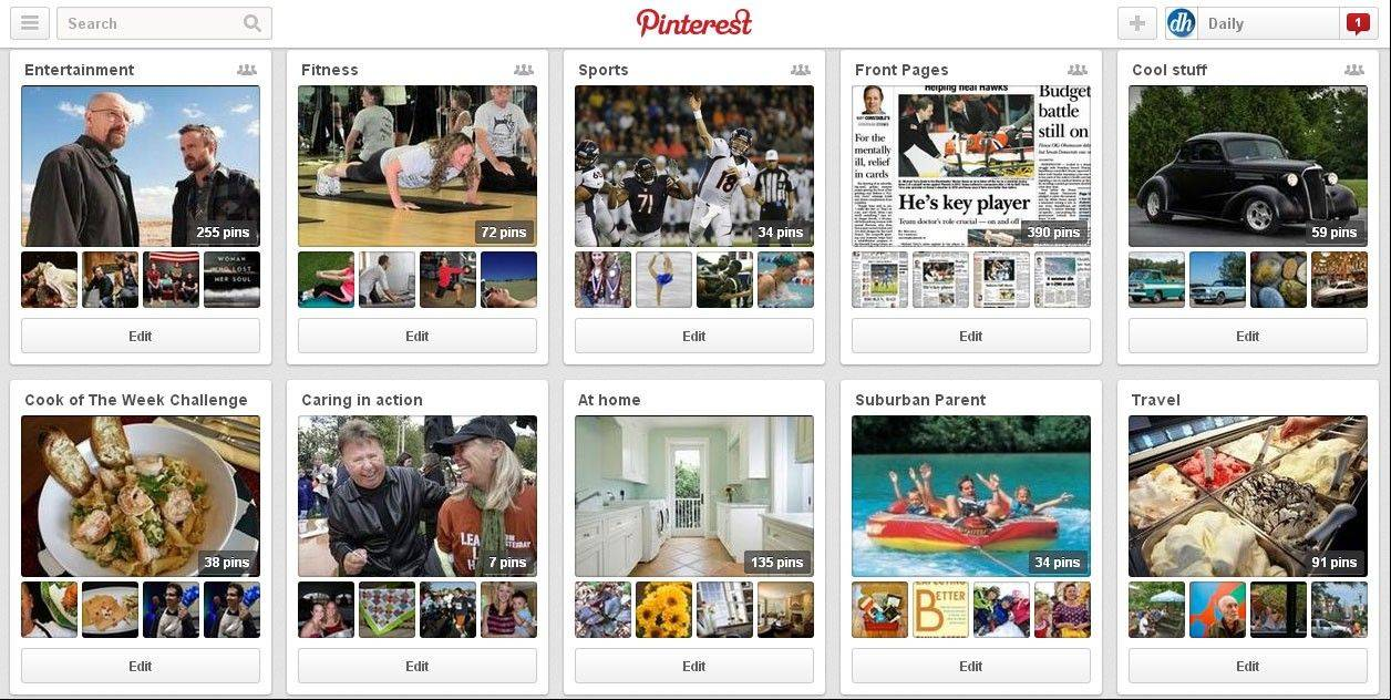 The Daily Herald shares contest on Pinterest.
