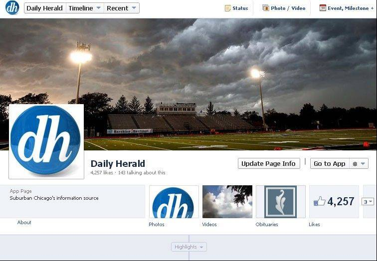 The Daily Herald talks to readers via Facebook.