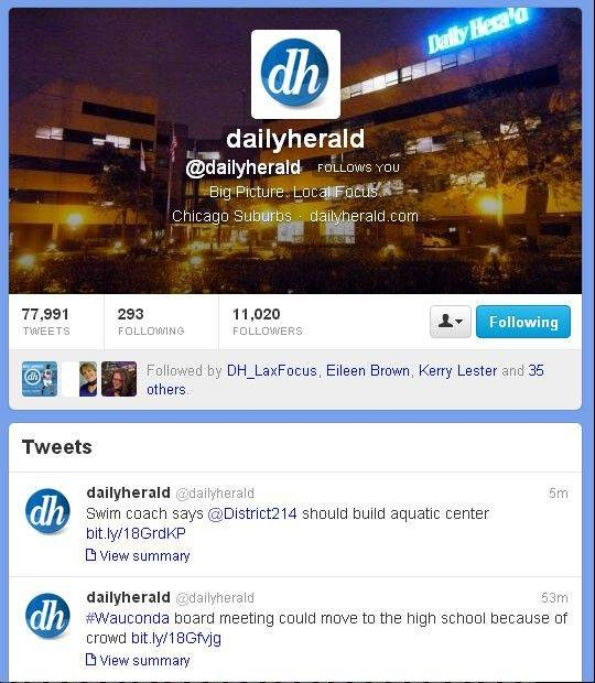 The Daily Herald on Twitter.