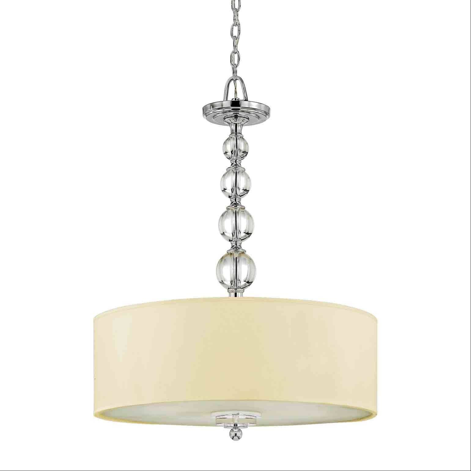 Semi-flush pendant for the living room area, Quoizel Lighting Downtown Collection model DW1824C.